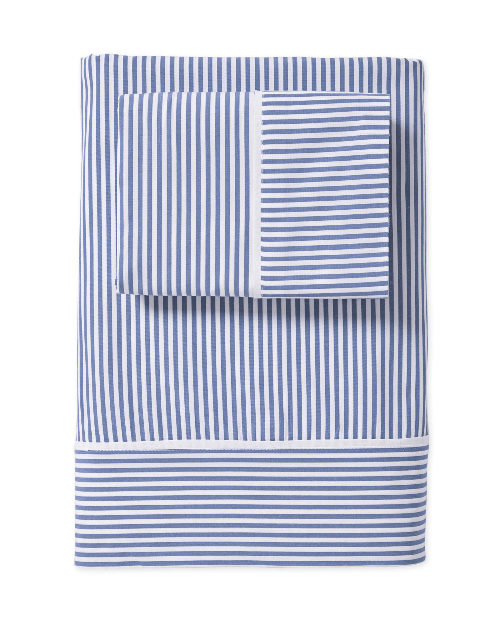 Oxford Stripe Sheet Set, French Blue