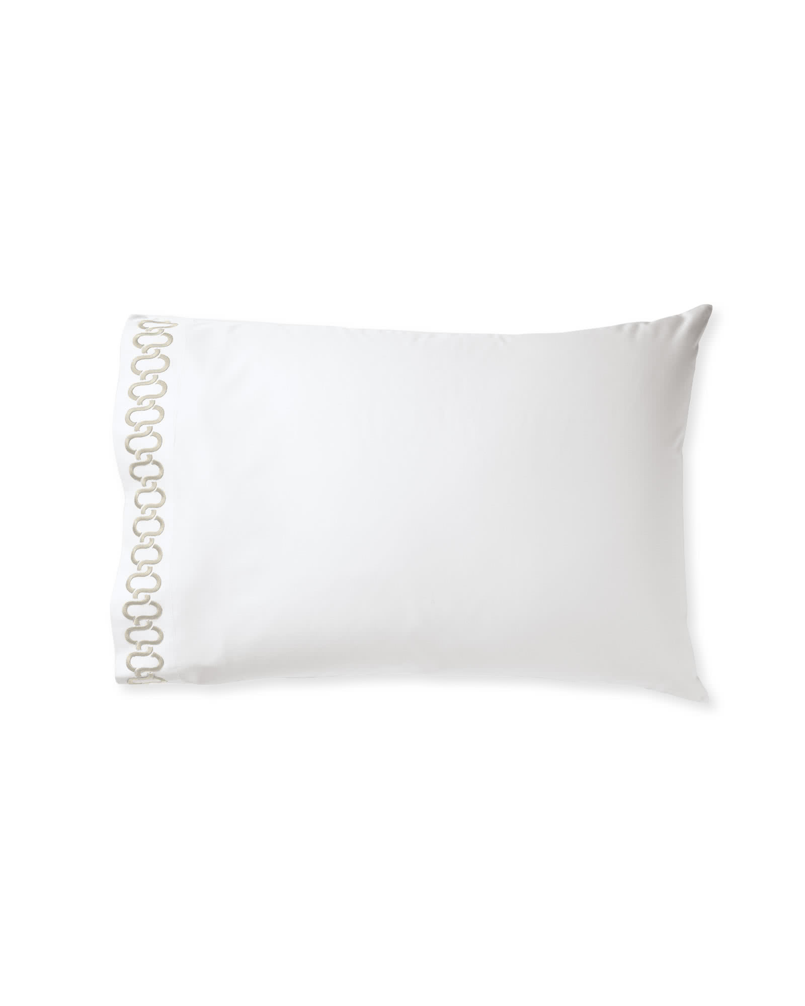 Savoy Embroidered Pillowcases (Extra Set of 2), Sand