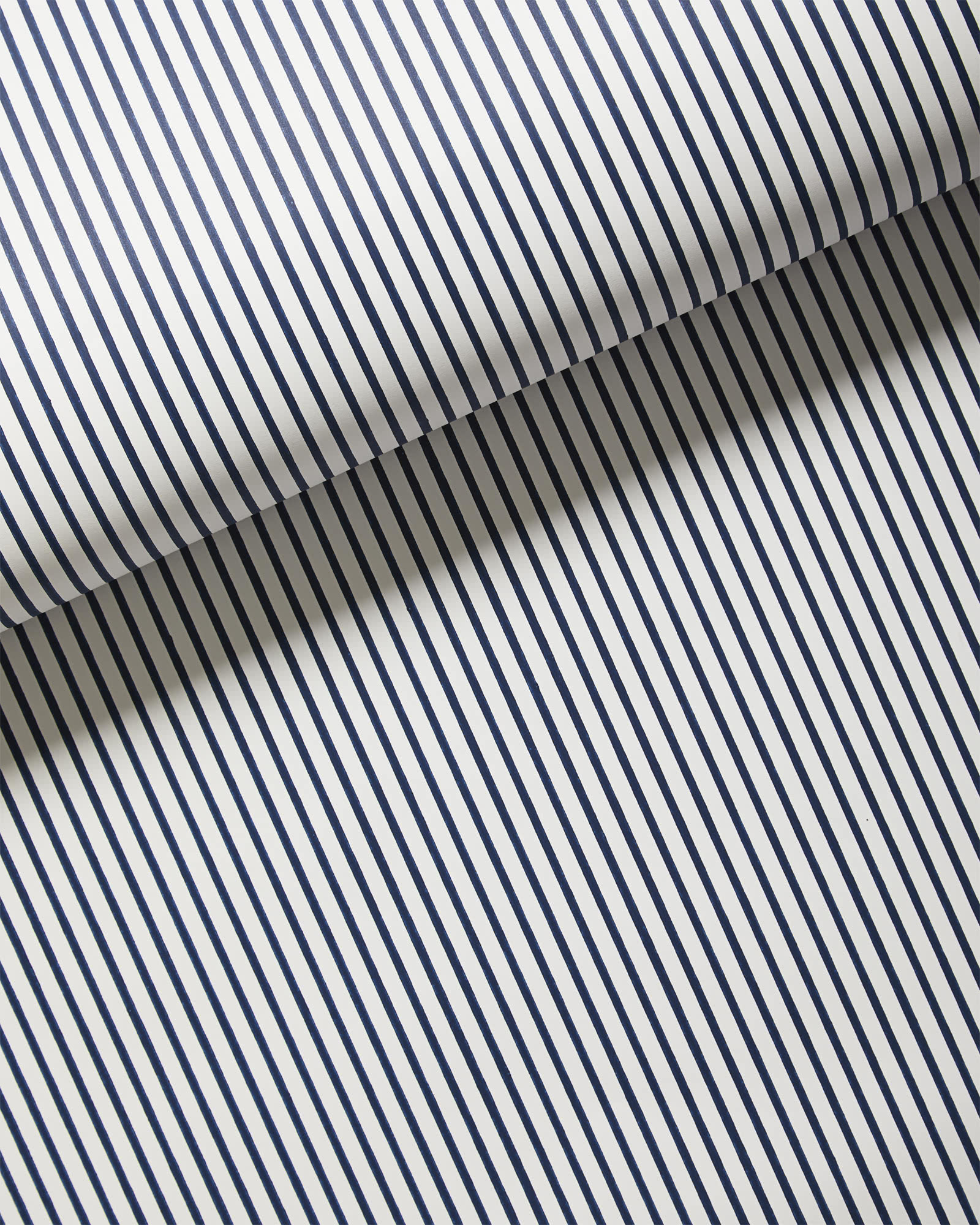 Oxford Stripe Wallpaper, Navy