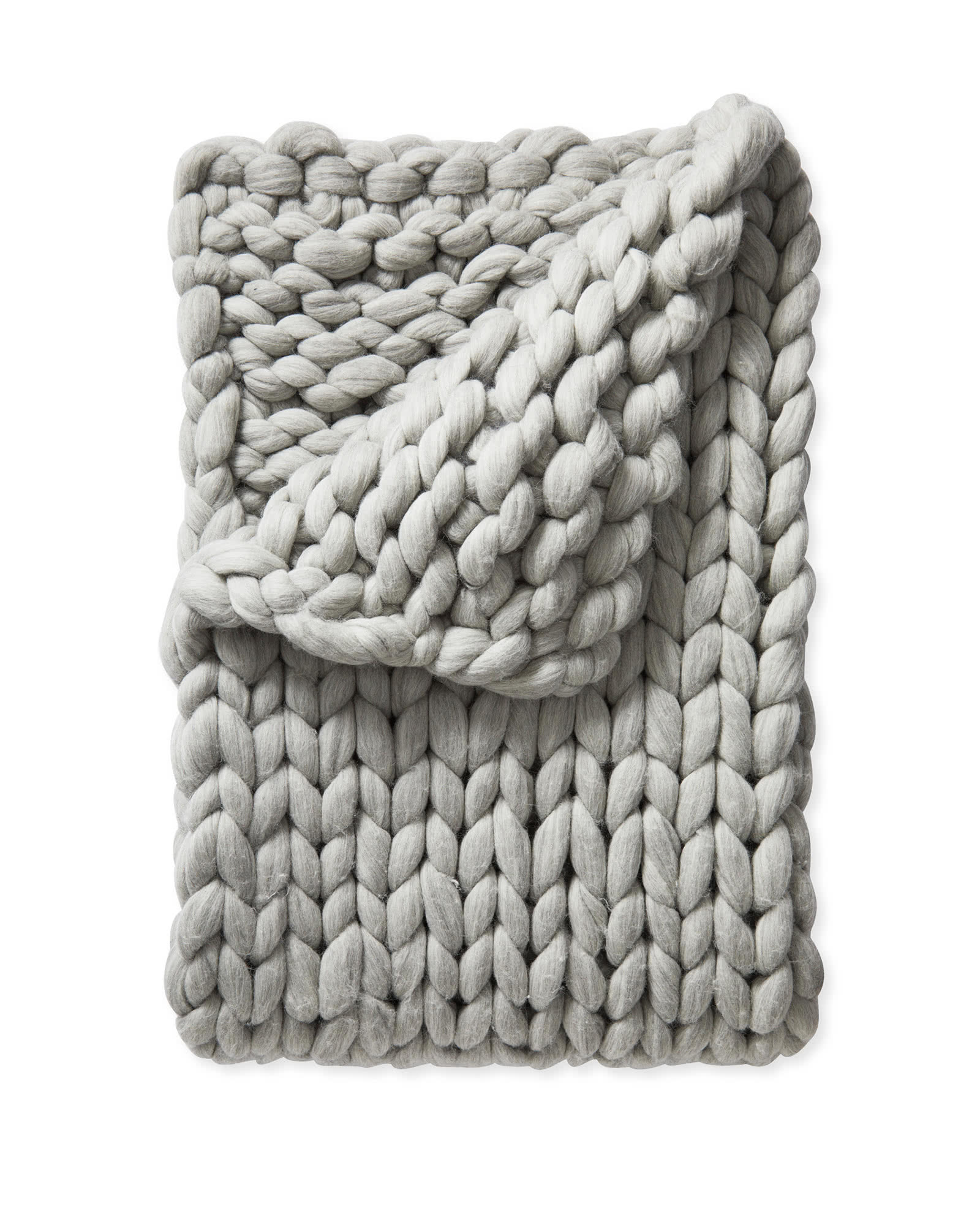 Henley Wool Throw, Heathered Grey