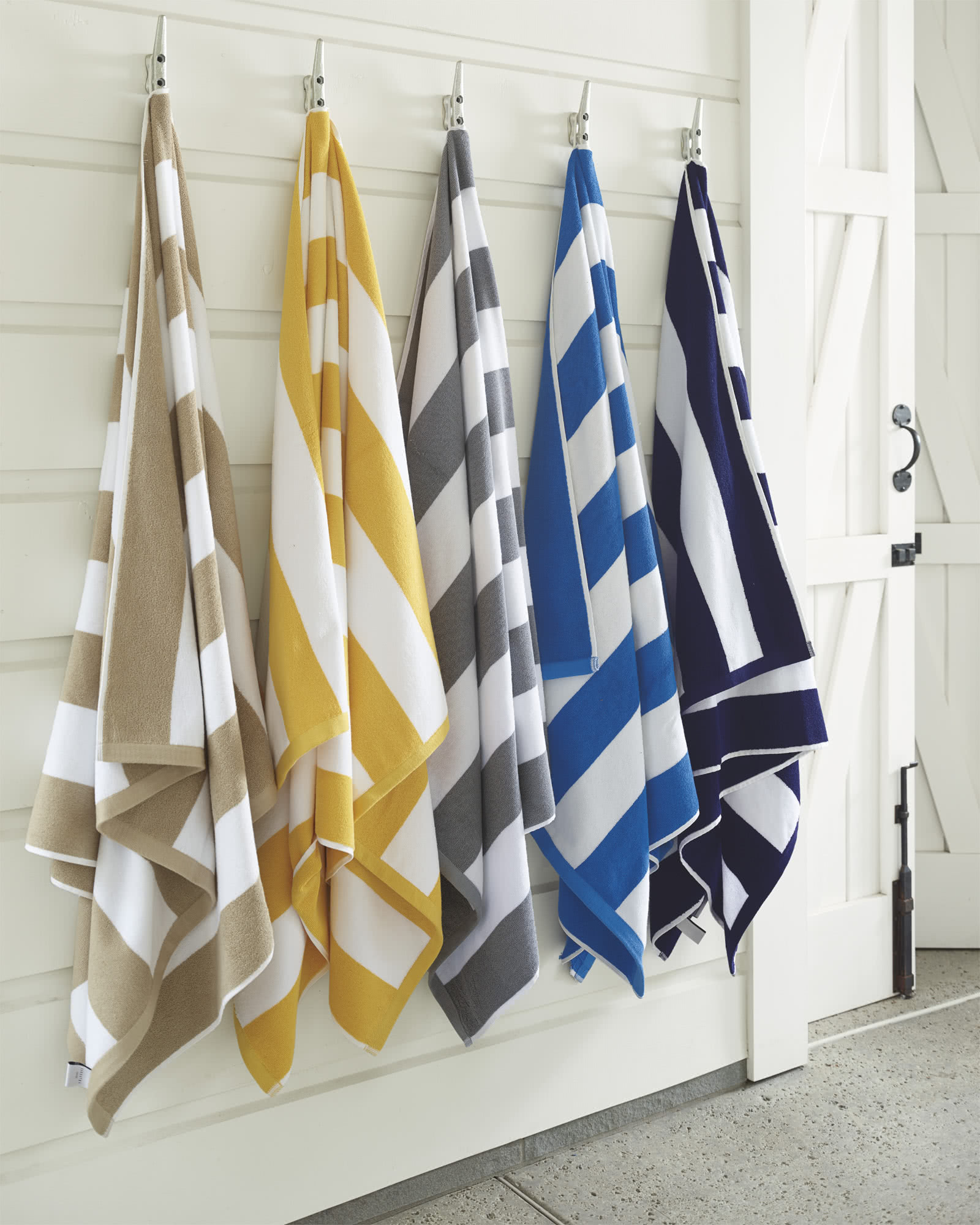 Cabana Stripe Beach Towel, Grey