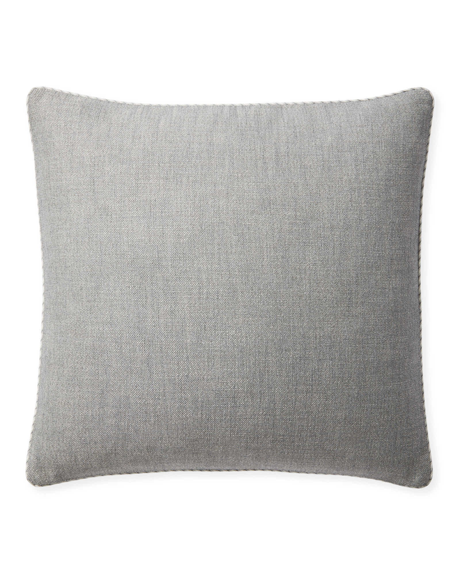 Perennials® Basketweave Outdoor Pillow Cover, Platinum