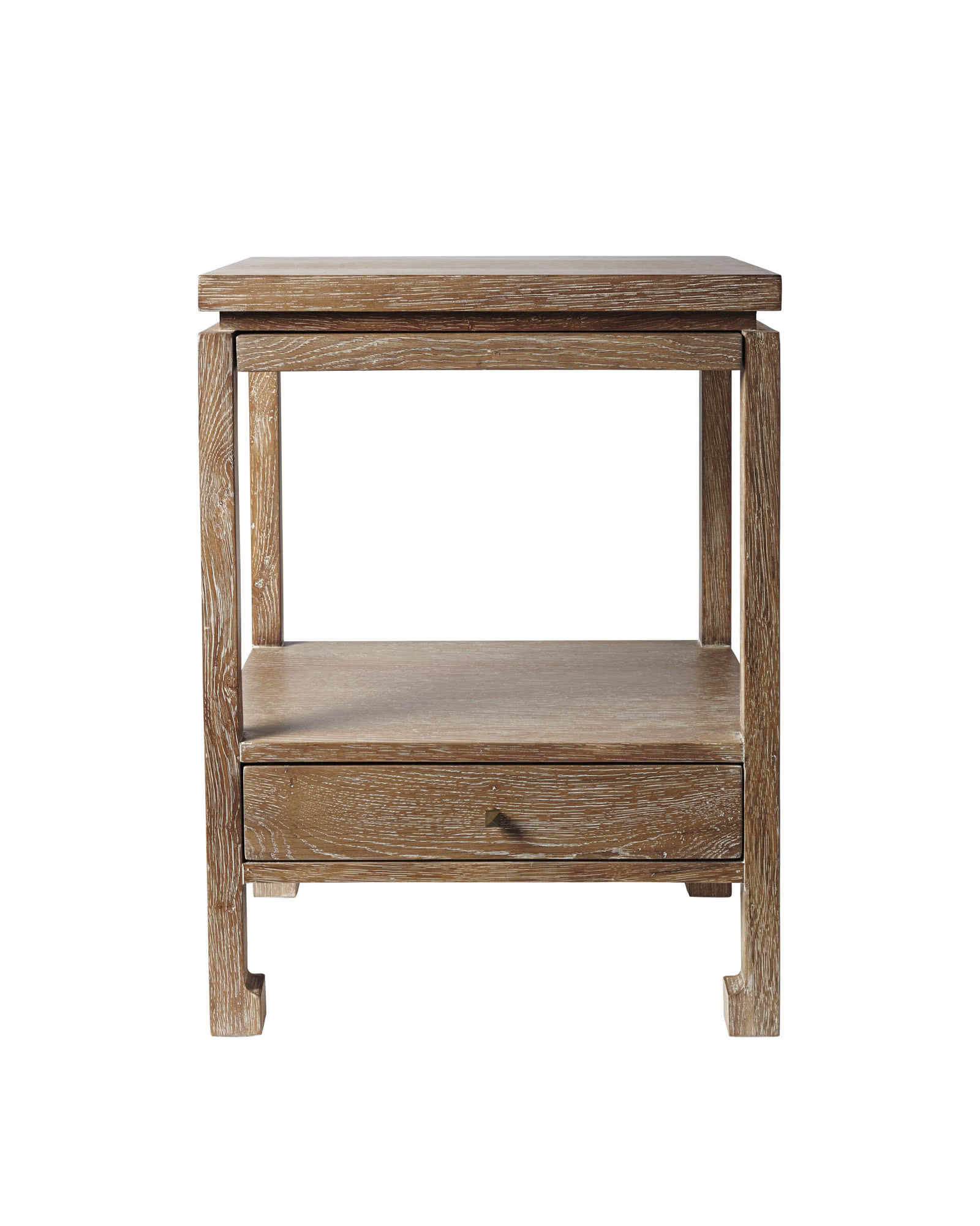 Reese Nightstand, Cerused Oak
