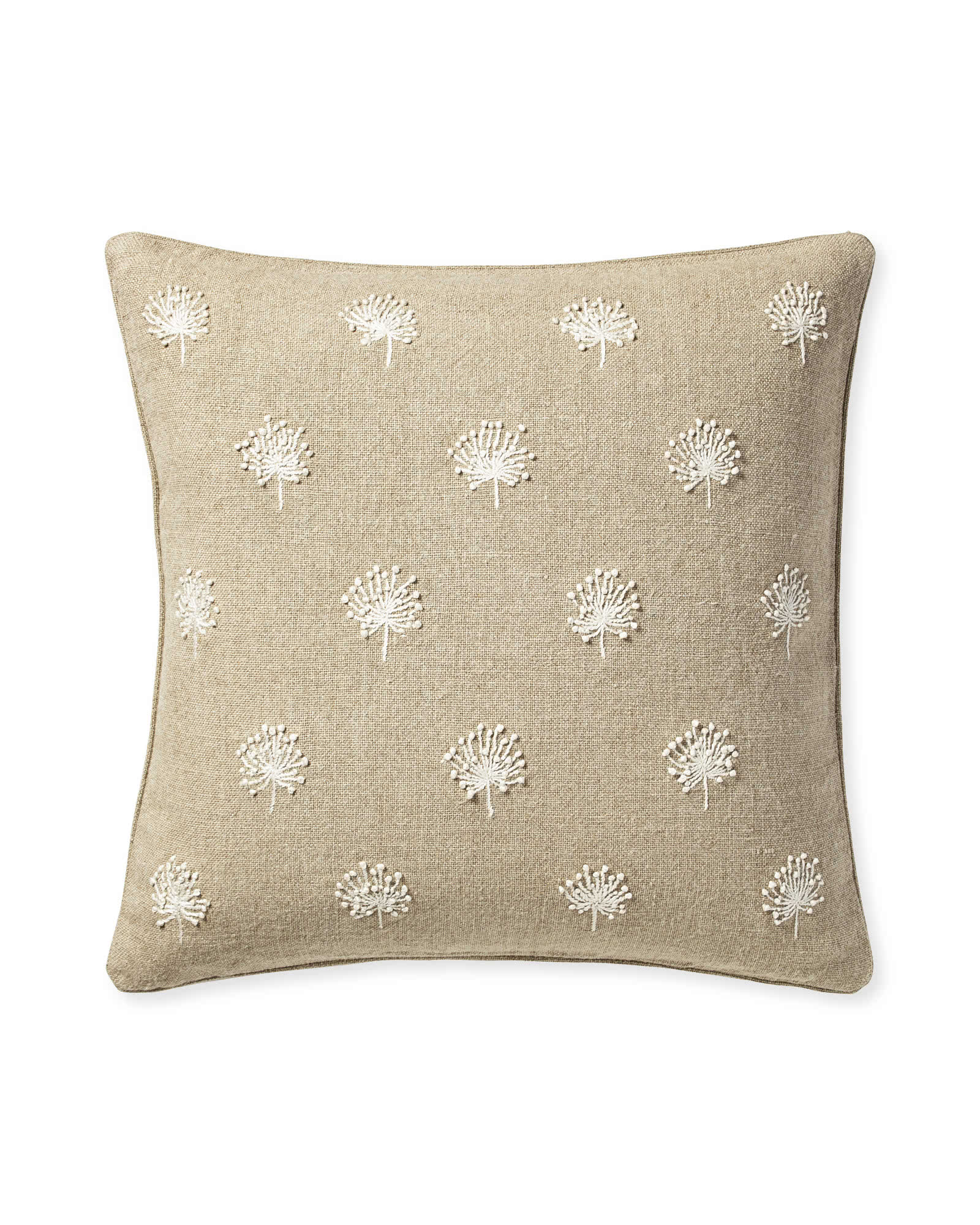 Dandelion Embroidered Pillow Cover,