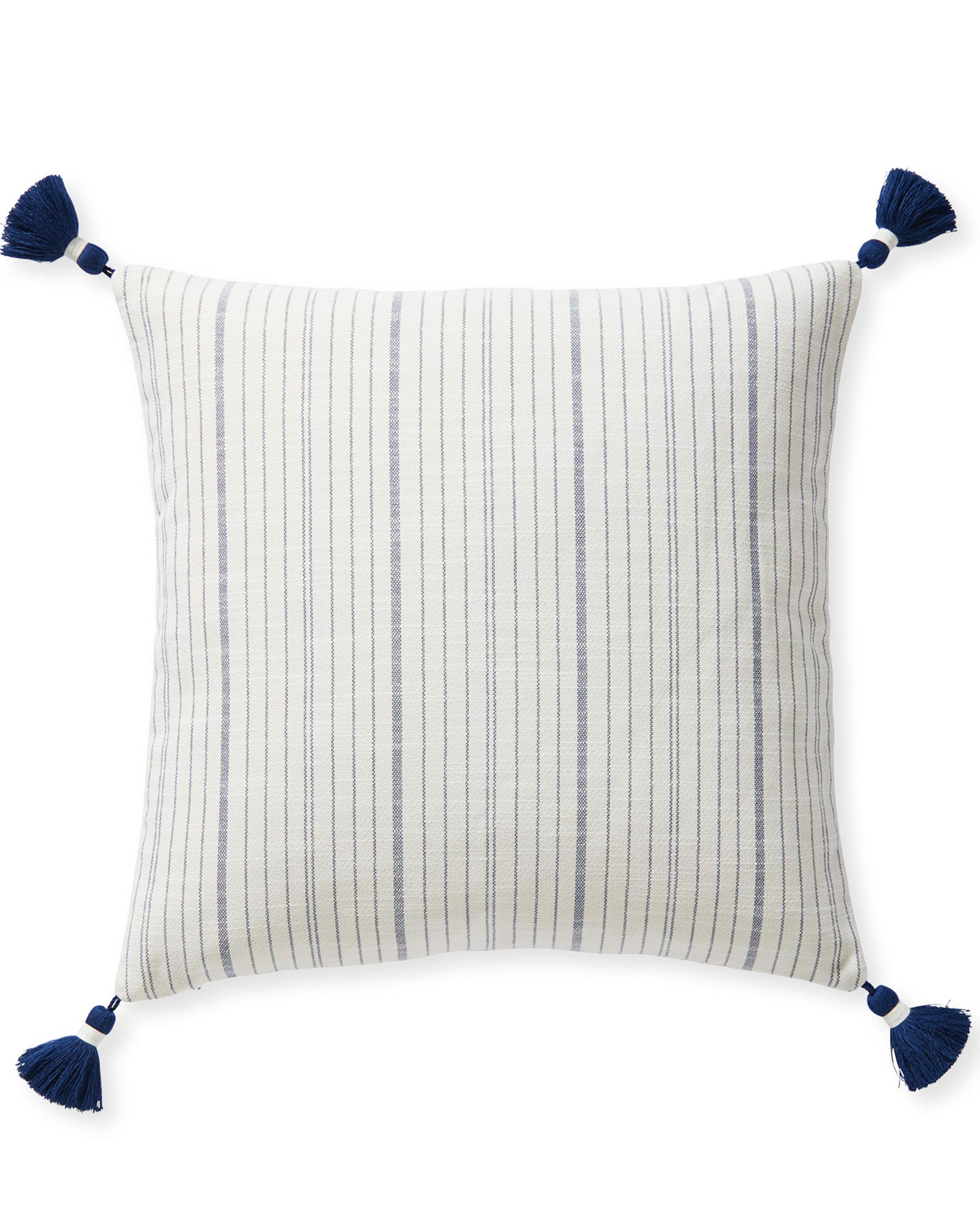 Surf Stripe Pillow Cover, Navy