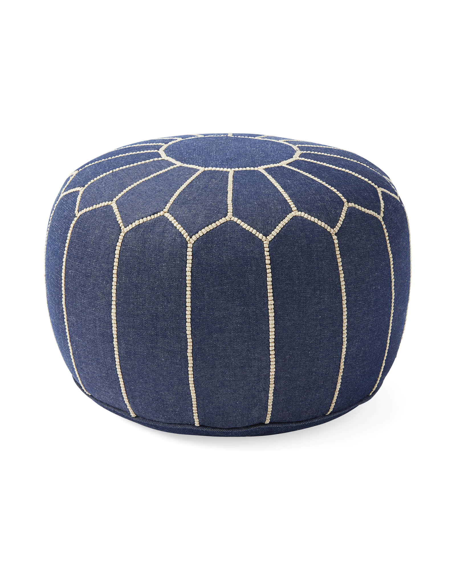Moroccan Pouf, Denim