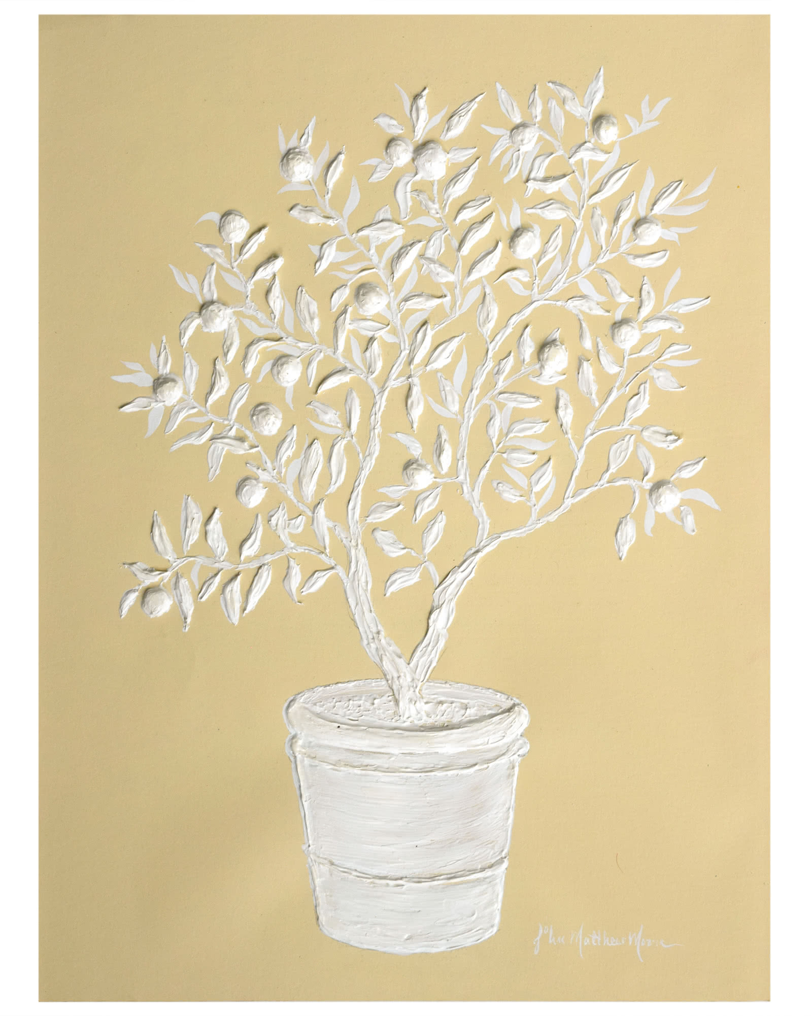 """""""Sculpted Potted Orange Tree"""" by John Matthew Moore,"""