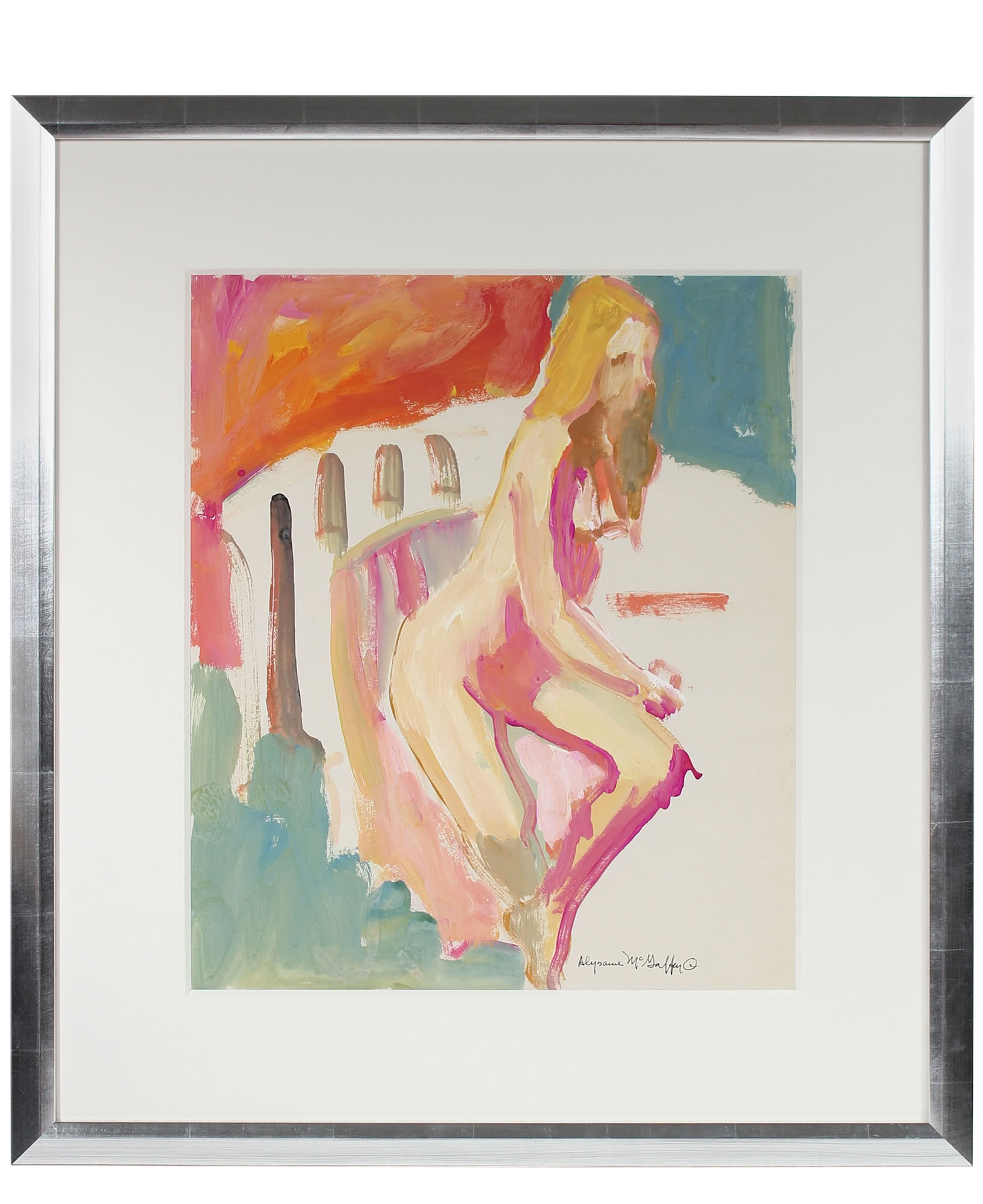 """Seated Female Nude"" by Alysanne McGaffey,"