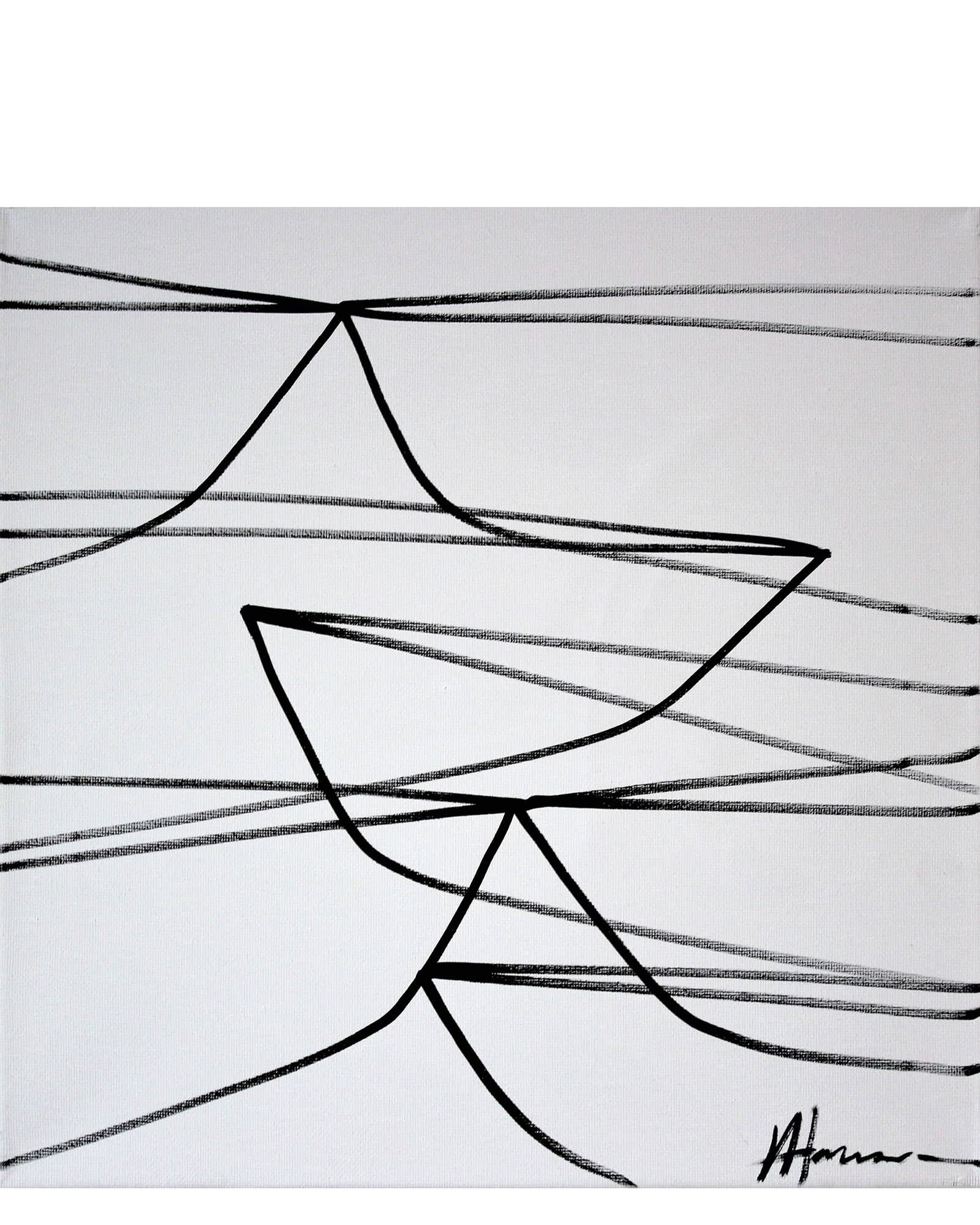 """Linear Boat Study II"" by Julie Hansen,"