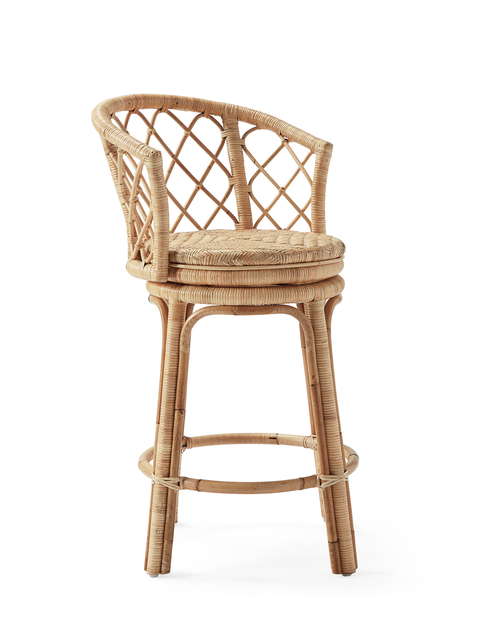 Avalon Swivel Counter Stool, Natural