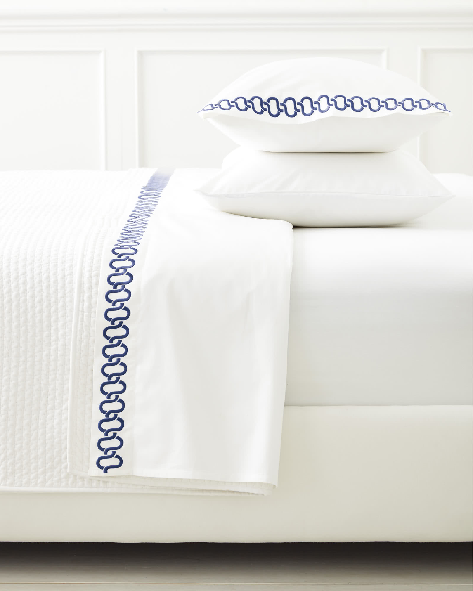 Savoy Embroidered Pillowcases (Extra Set of 2), Navy