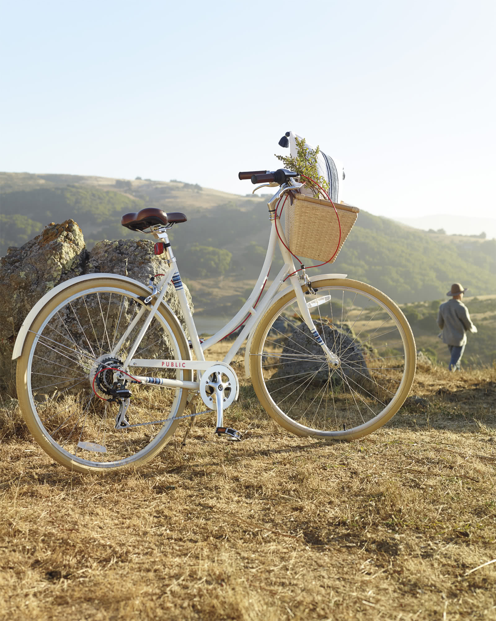 Riviera Bike Basket, Natural