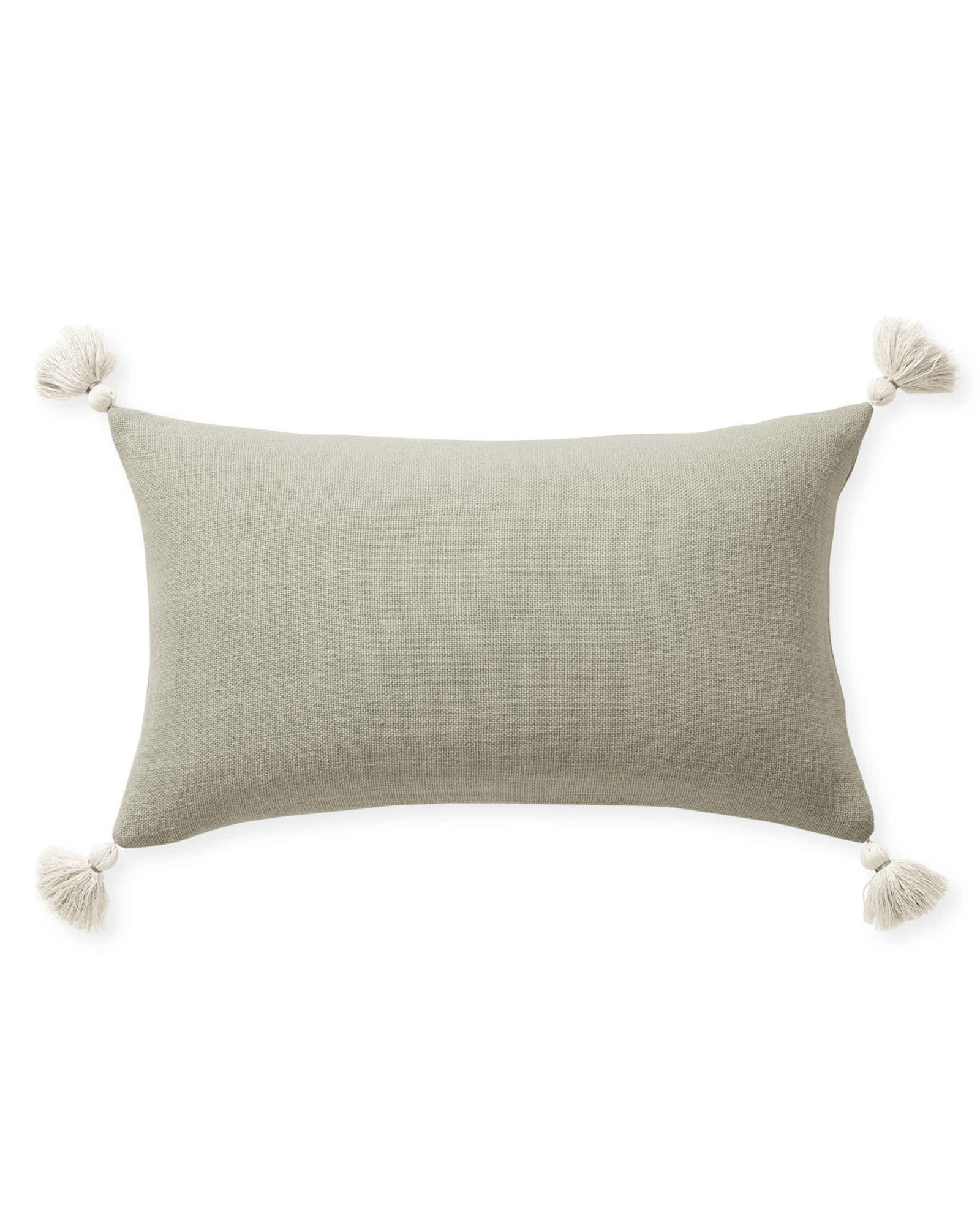 Eva Tassel Pillow Cover, Flax