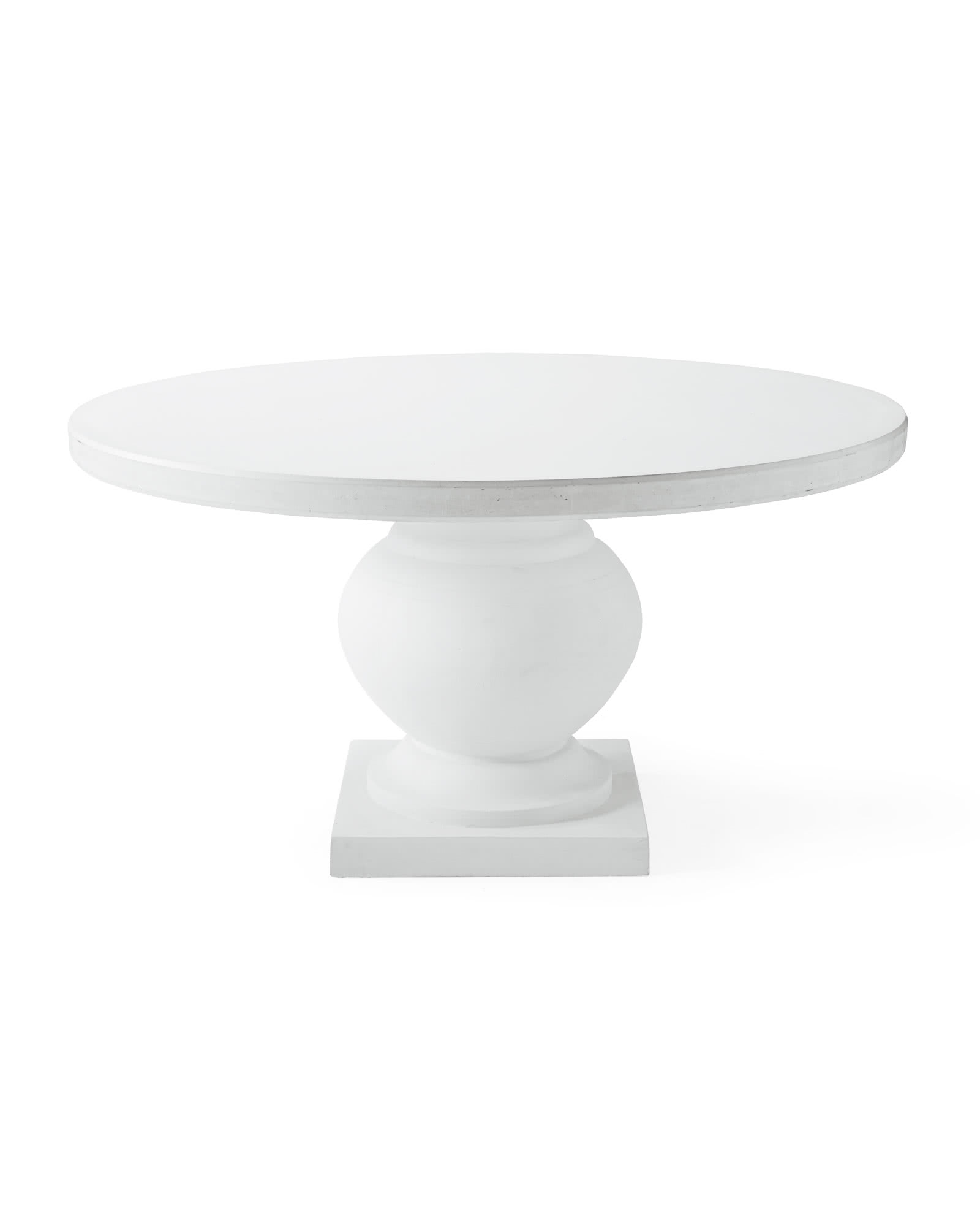 Terrace Round Dining Table, White/White