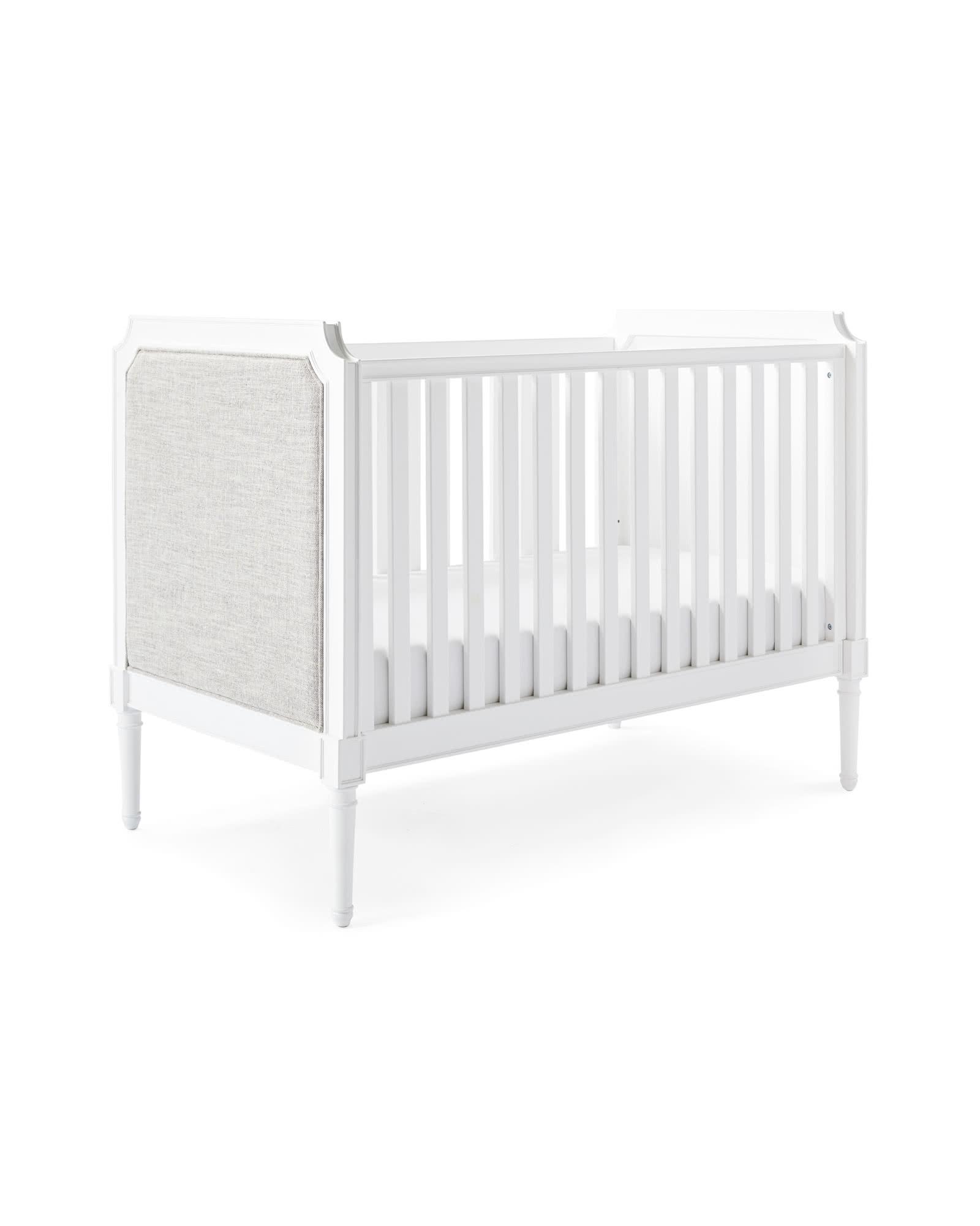 Harbour Cane Upholstered Convertible Crib,