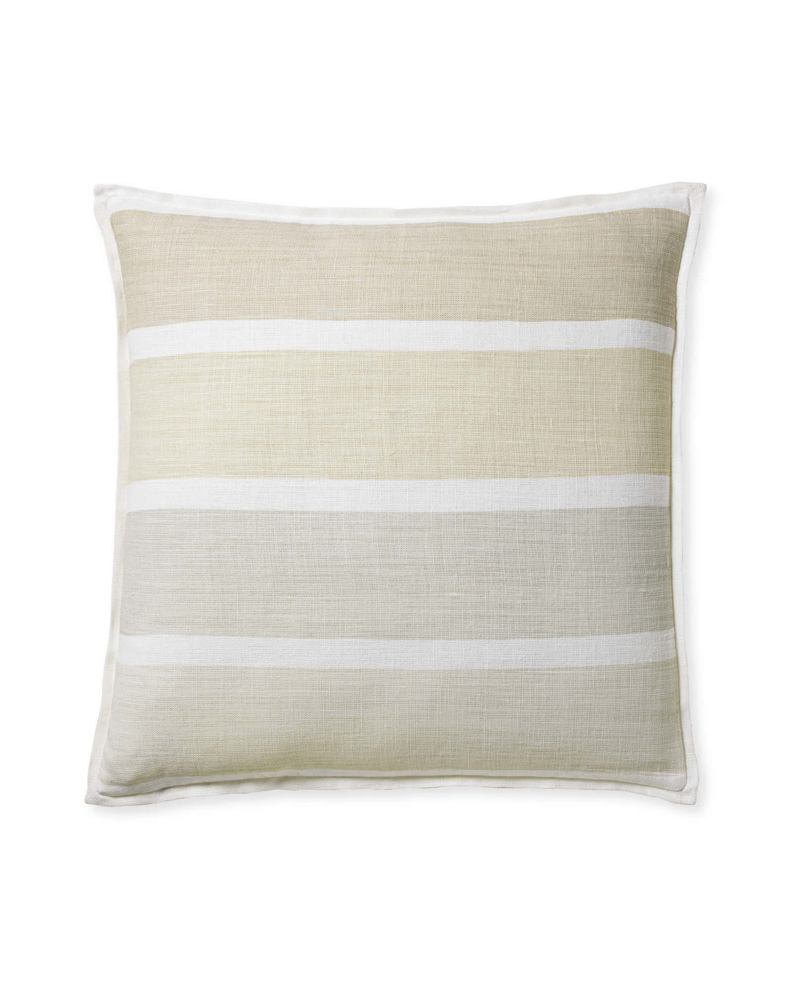 Coastal Stripe Pillow Cover, Sand