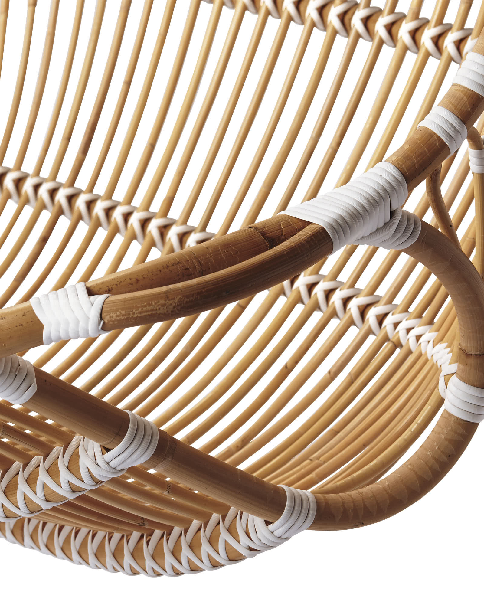 Double Hanging Rattan Chair - Chairs   Serena and Lily