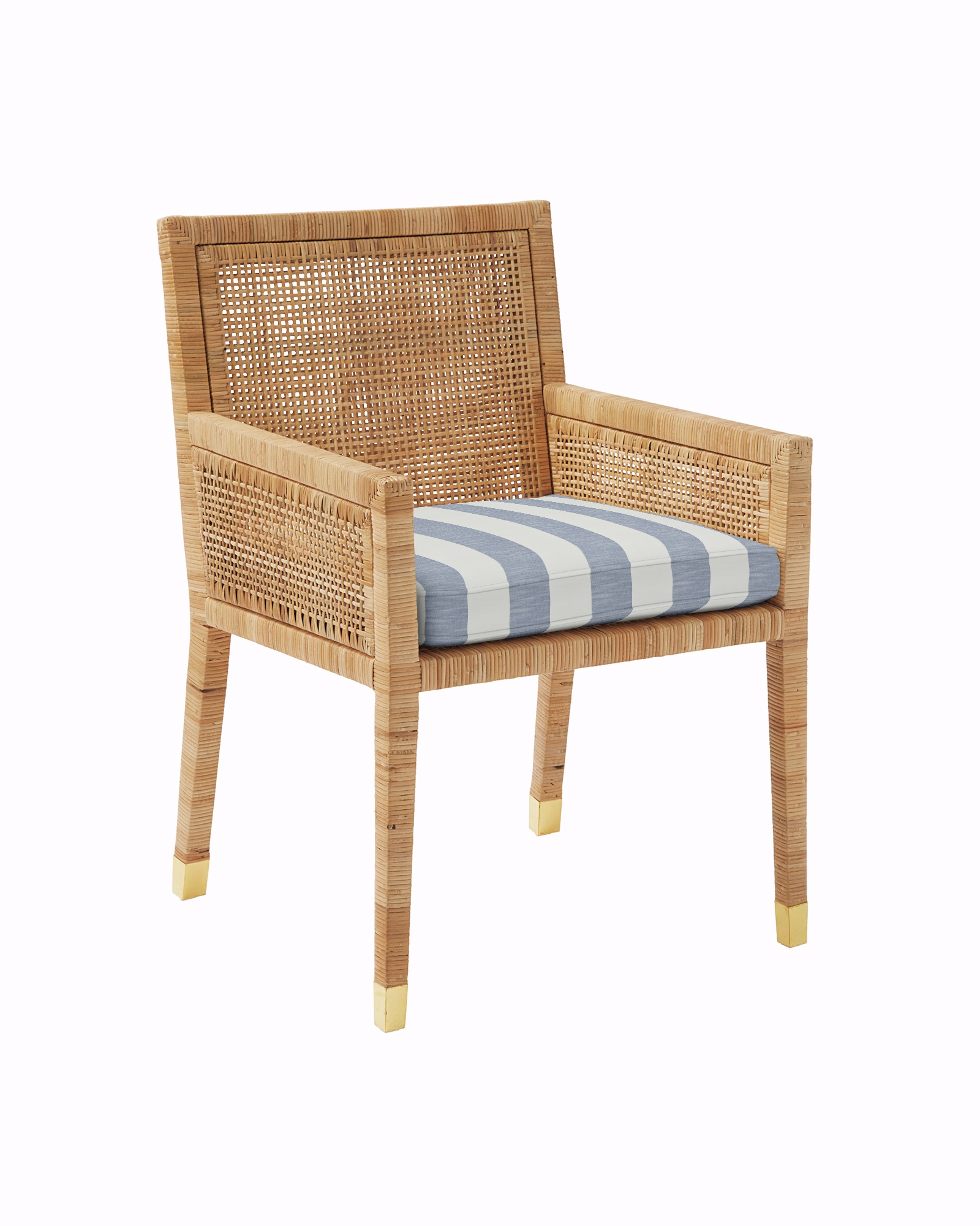 Cushion Cover for Balboa Armchair - Natural, Beach Stripe Navy