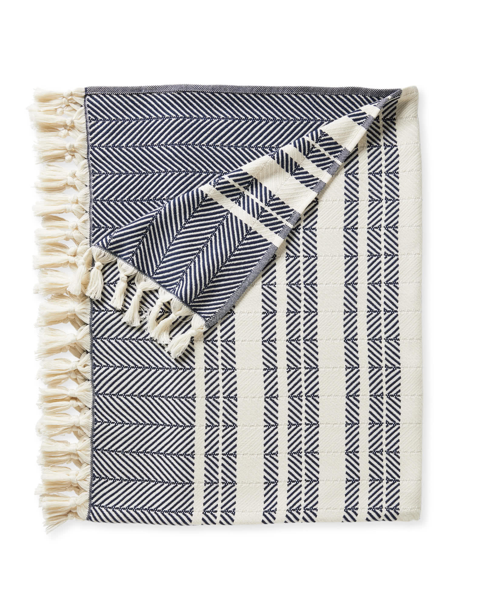 Palermo Cotton Throw, Navy
