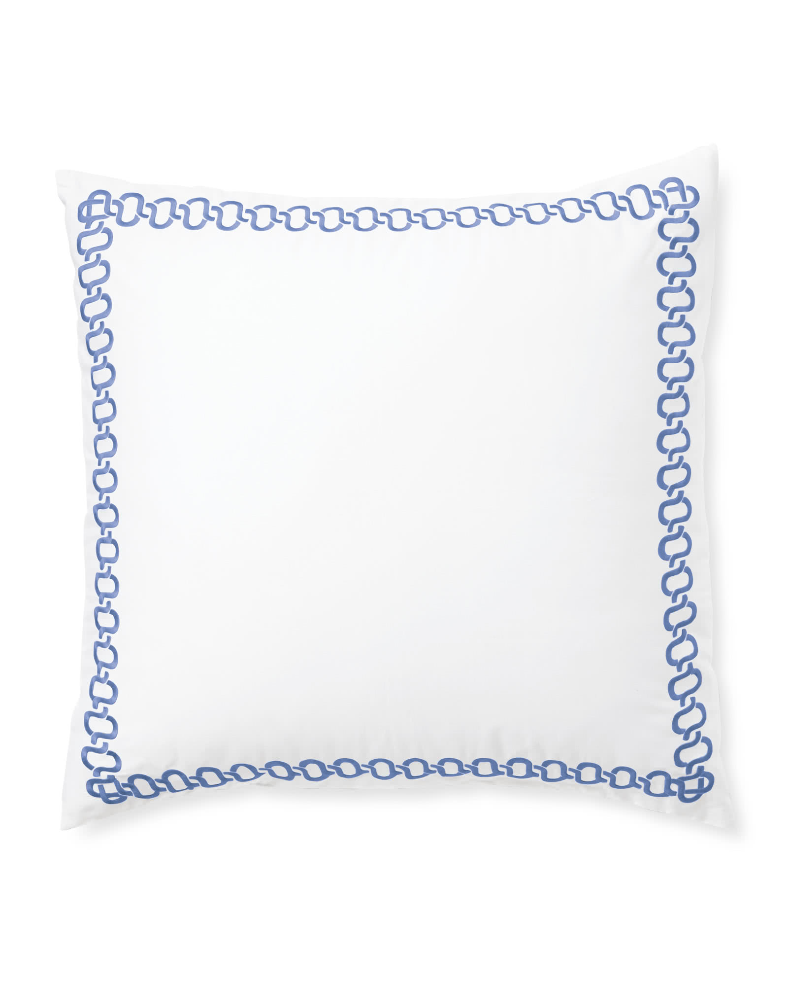 Savoy Embroidered Shams, French Blue