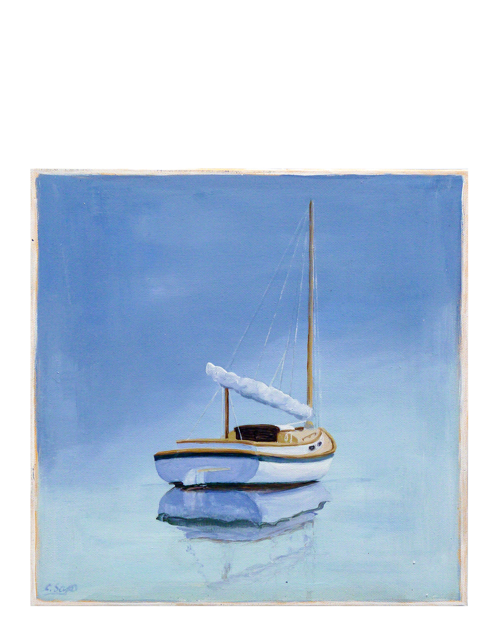 """""""Catboat"""" by Carol Saxe,"""