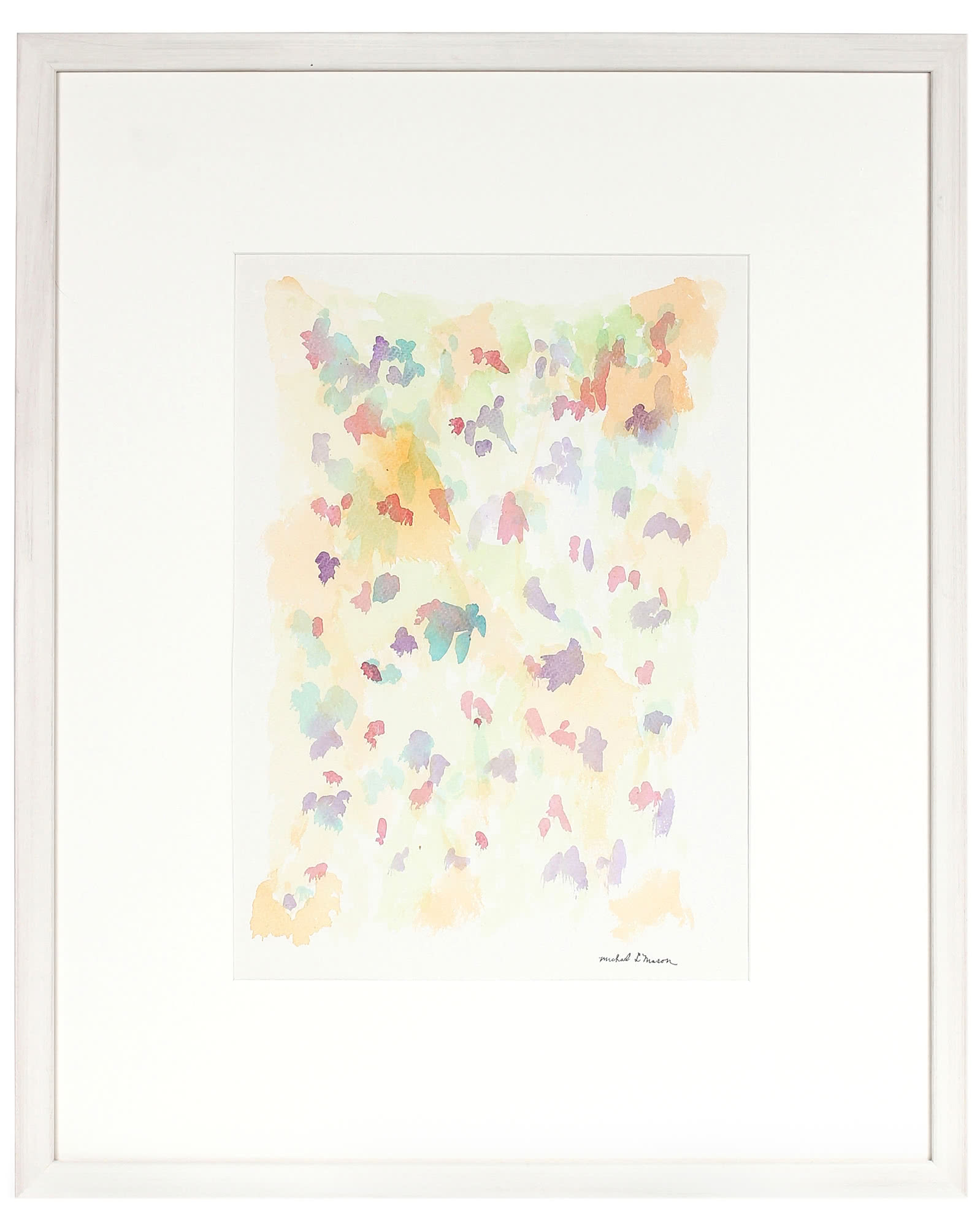 """""""1963 Watercolor on Paper Abstract"""" by Michael L. Mason,"""