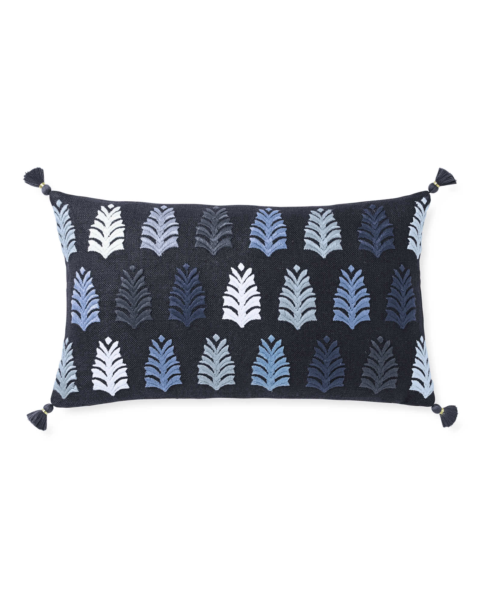 Whitley Embroidered Pillow Cover, Midnight