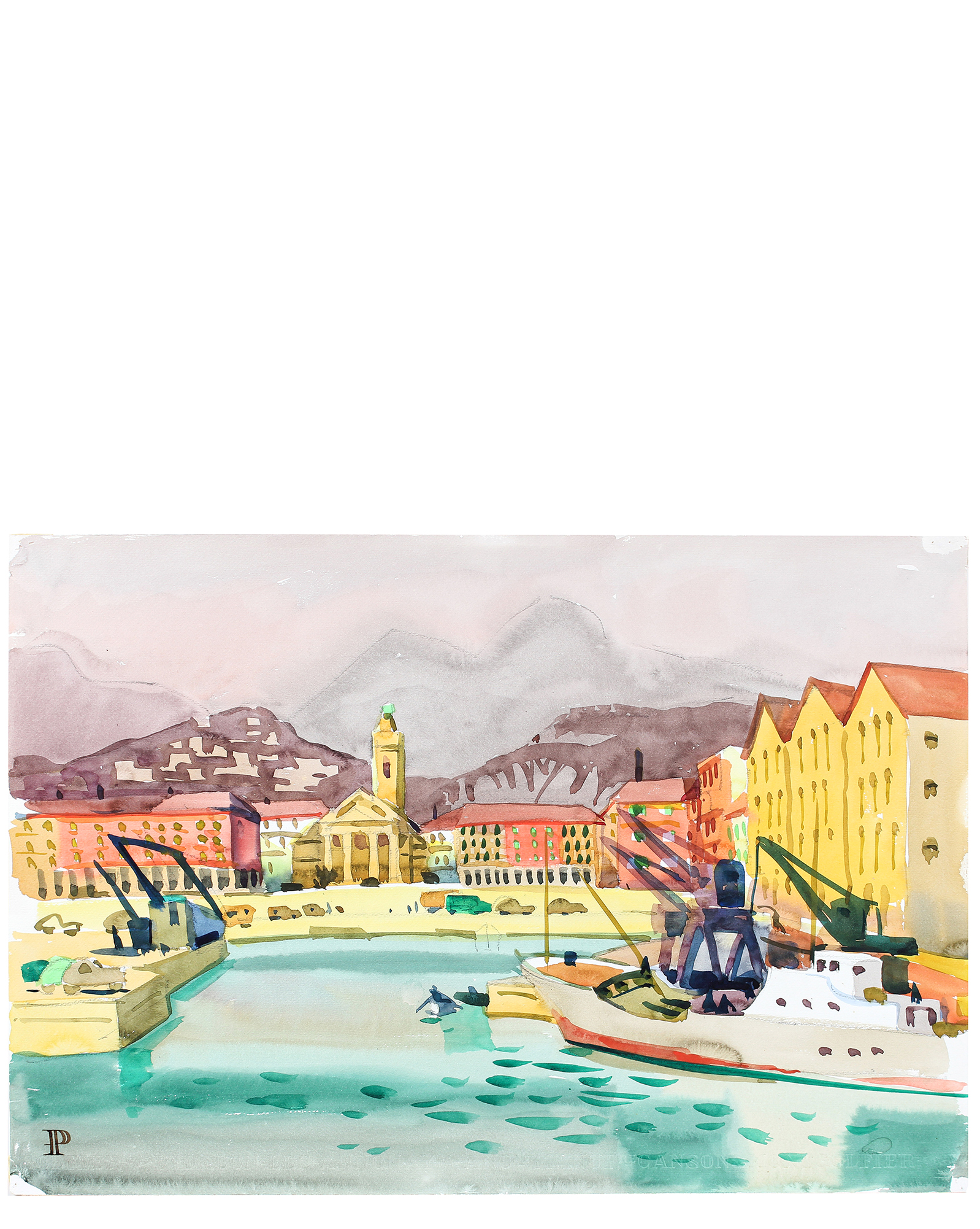 """The Port in Nice, France"" by Frederick Pomeroy ,"