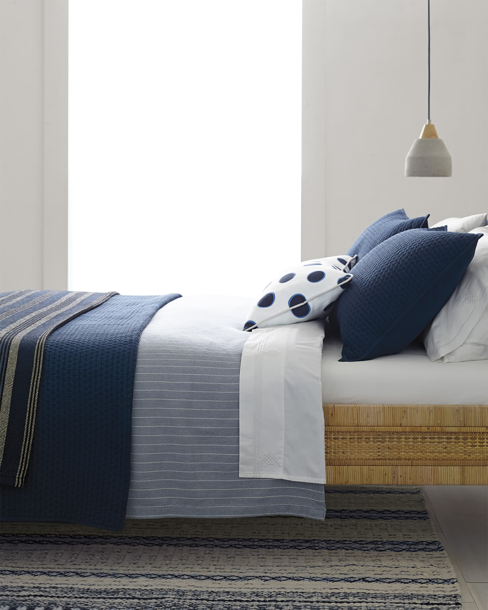 Westwood Quilted Shams, Navy