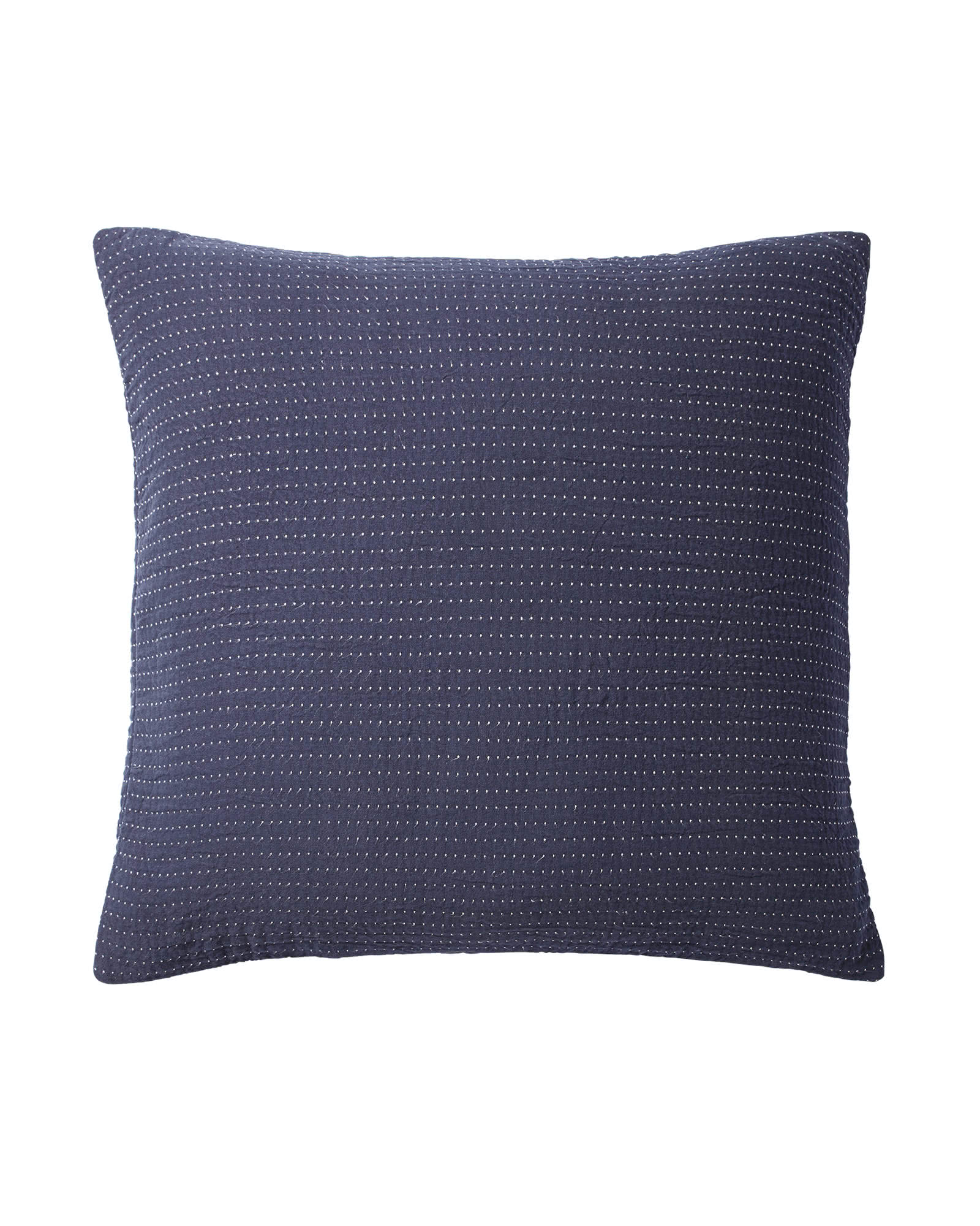 Pickstitch Matelassé Euro Sham, Navy