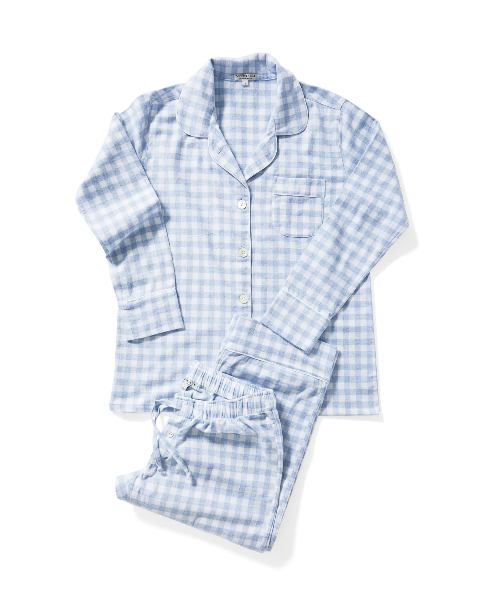 Dalton Flannel Pajamas, Chambray