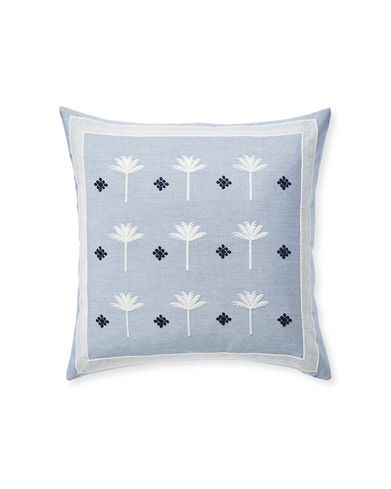 Sunbrella® Veracruz Pillow Cover, Coastal Blue