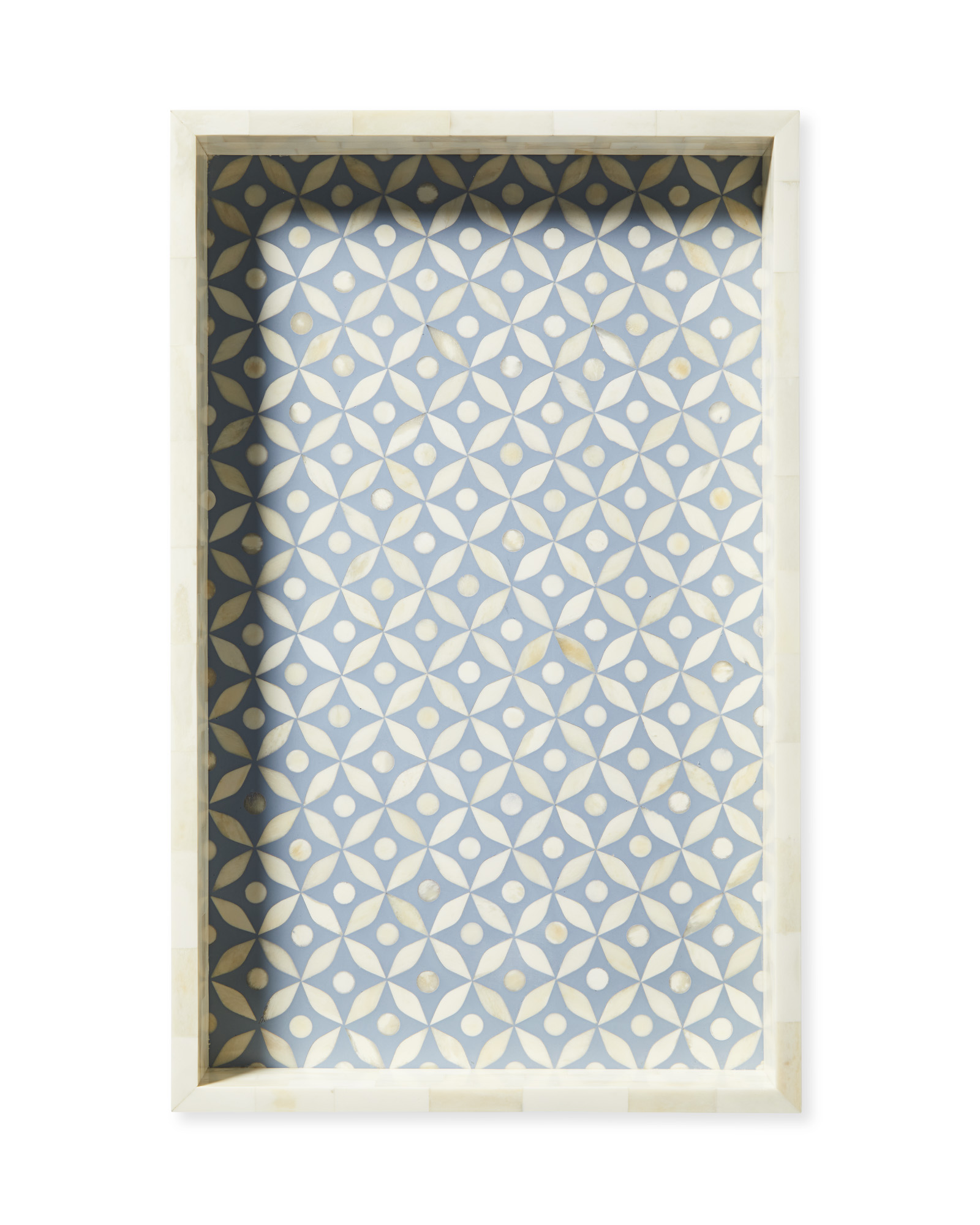 Portland Bone Inlay Tray, Coastal Blue