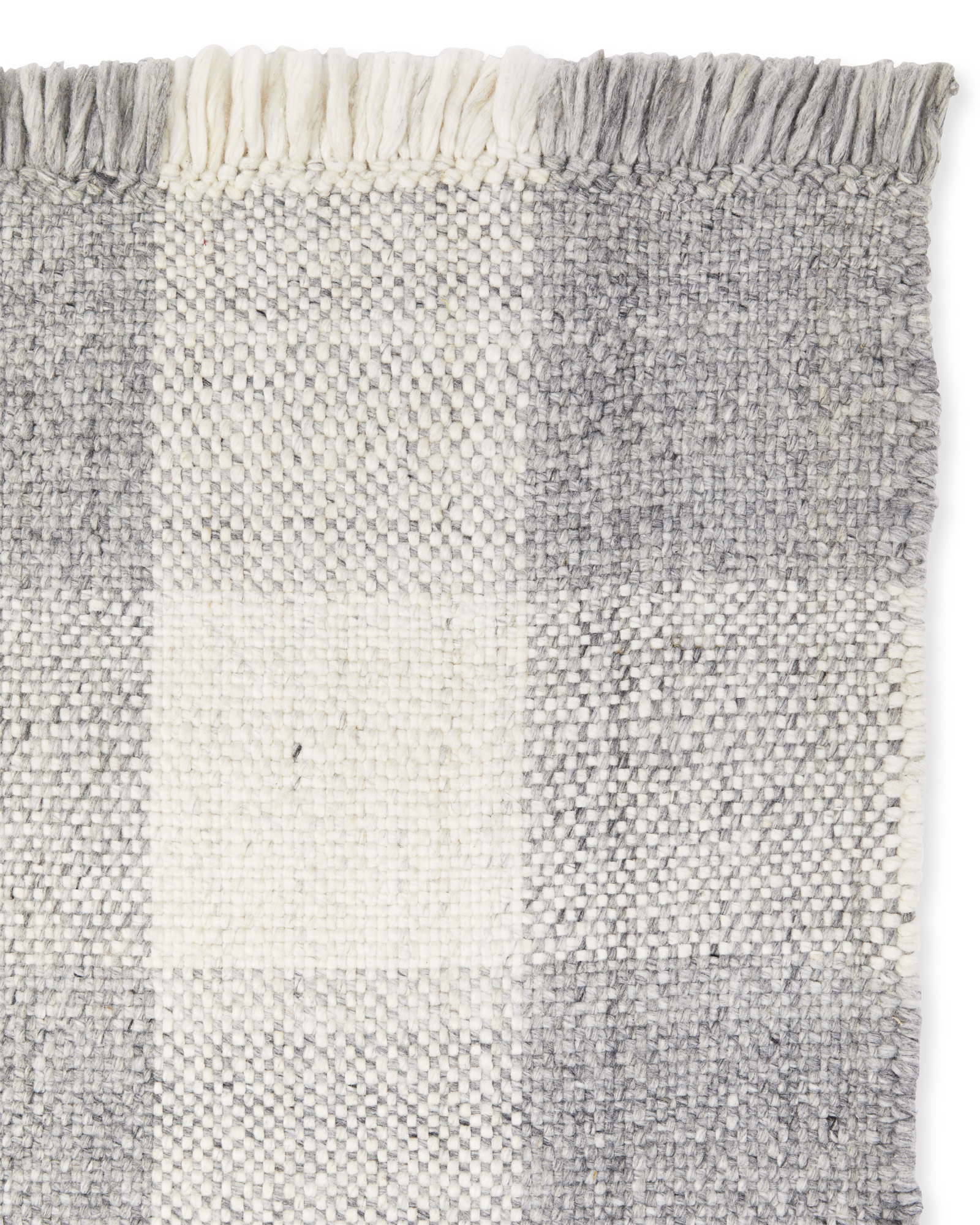 Gingham Rug Swatch, Grey