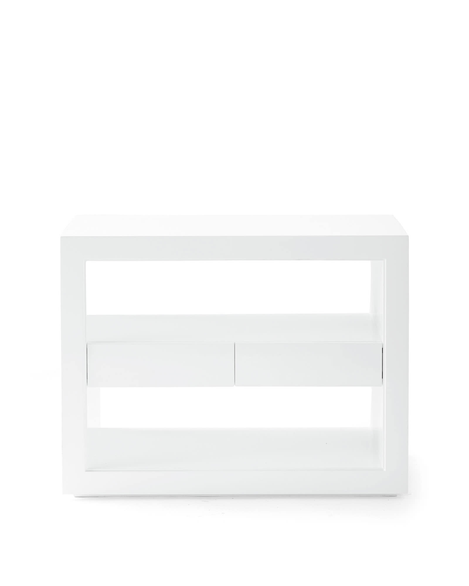 Atelier Wide Side Table, White
