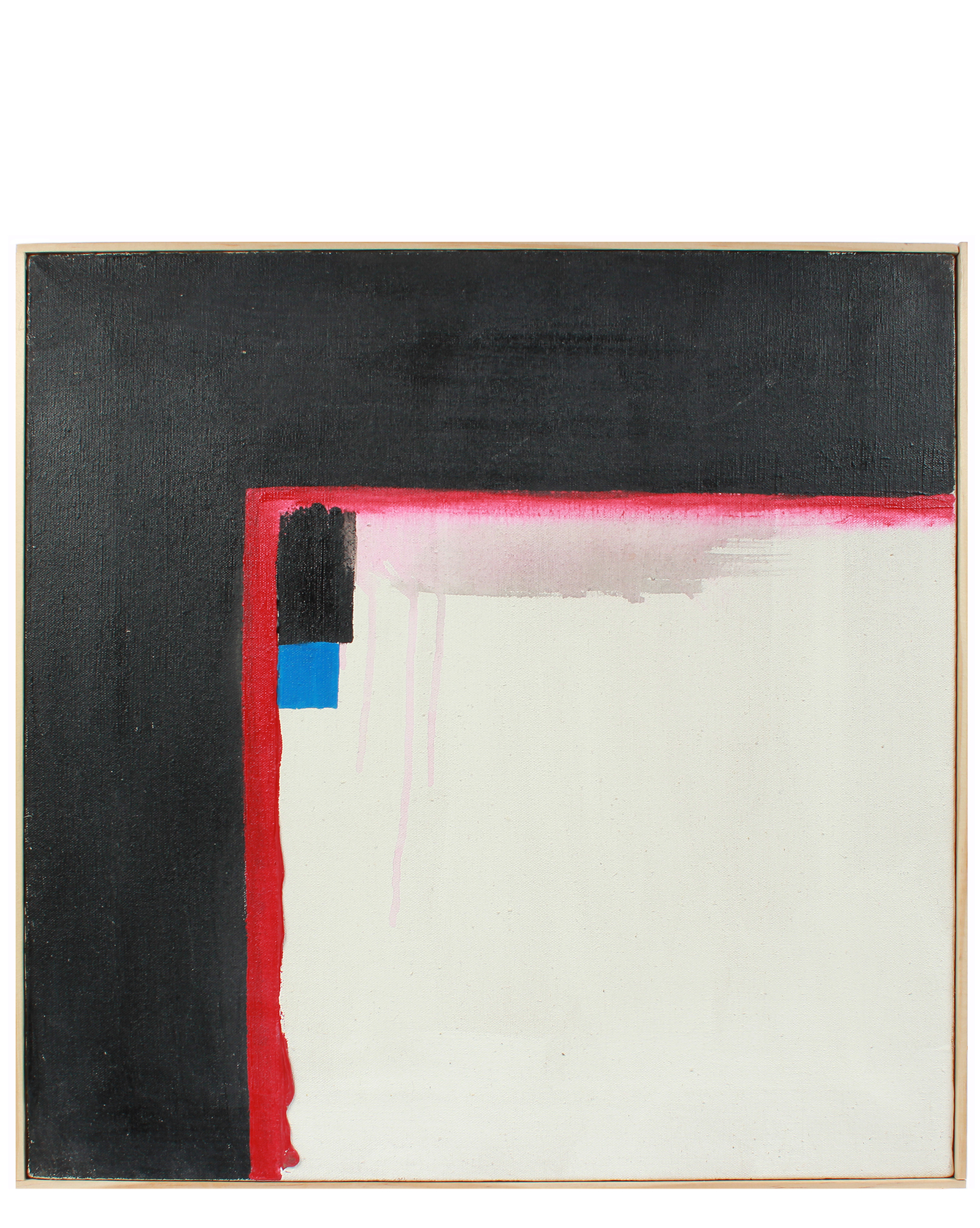 """""""White Square Abstract"""" by Barbara Lewis,"""