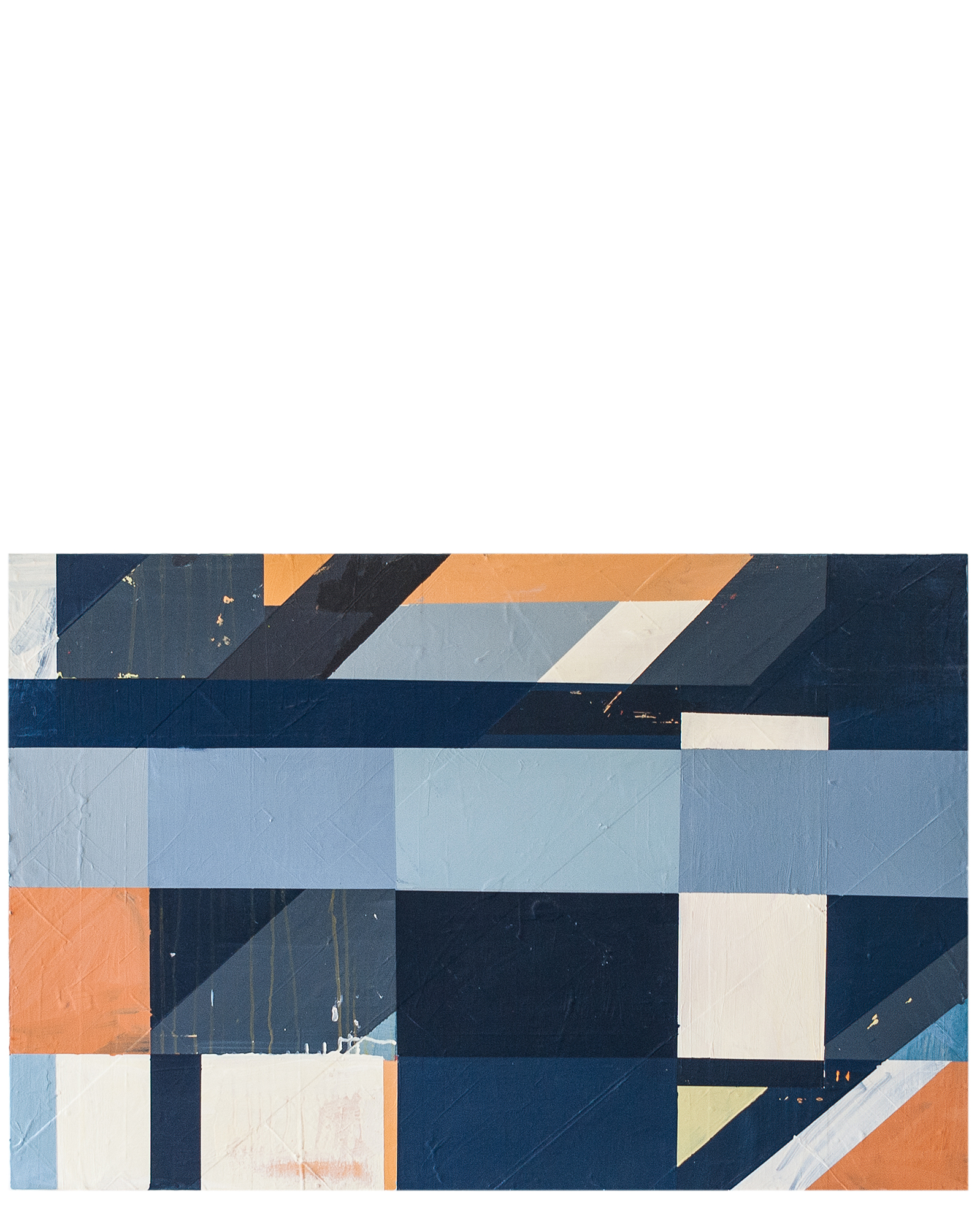 """""""Composition in Blue and Orange #2"""" by Megan Donnelly,"""