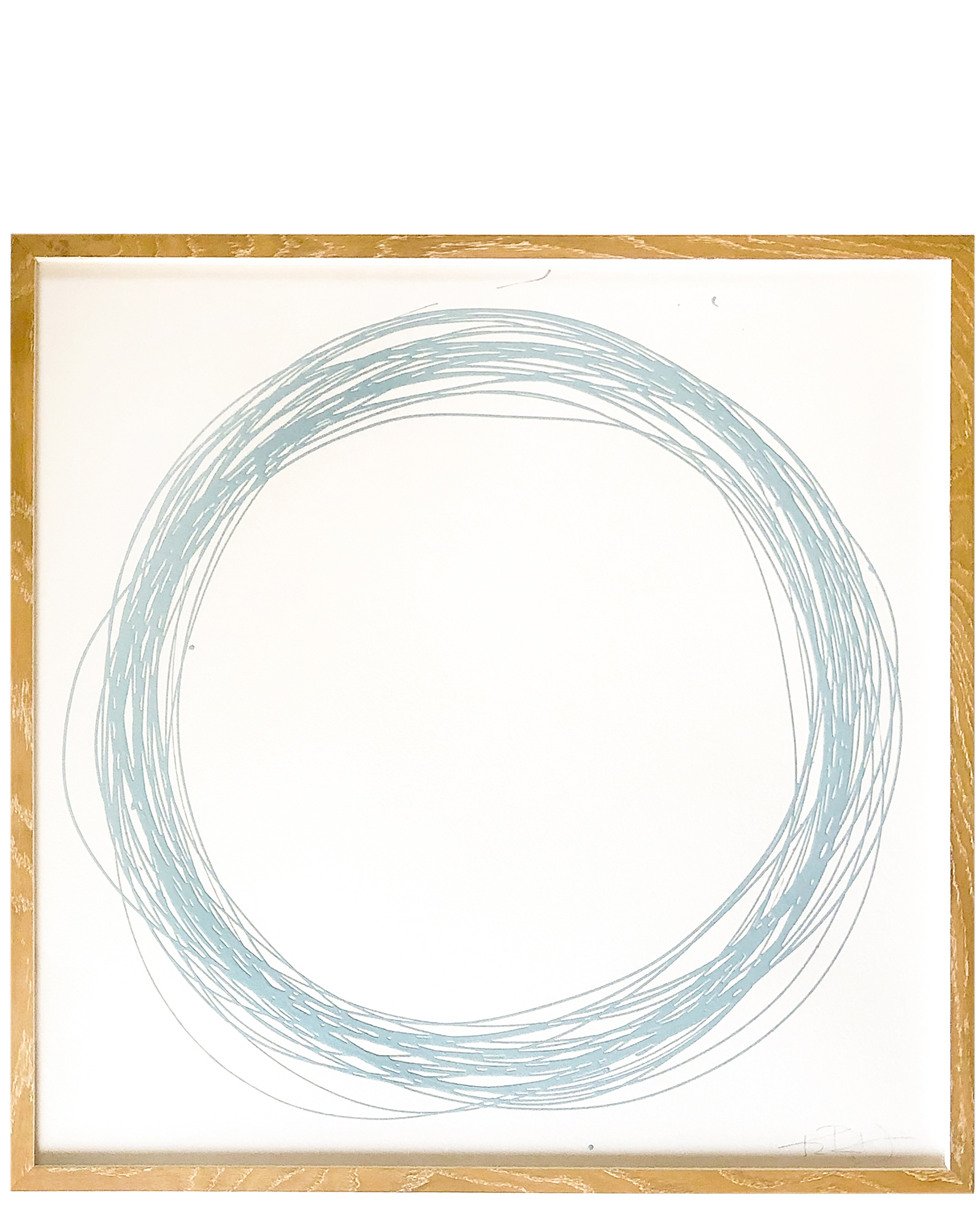 Blue Circle on White by Kayce Hughes,