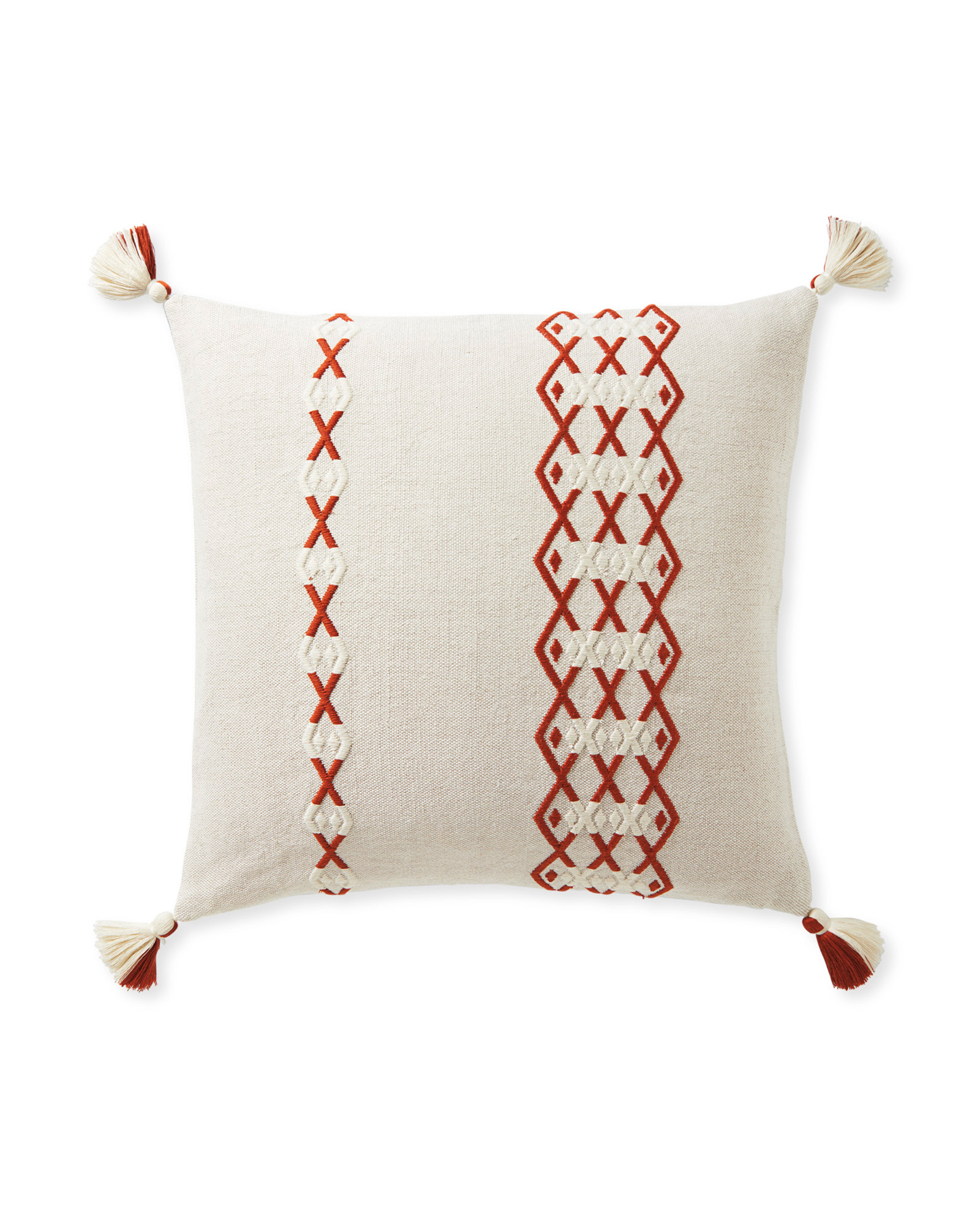 Falmouth Pillow Cover, Sand/Terracotta