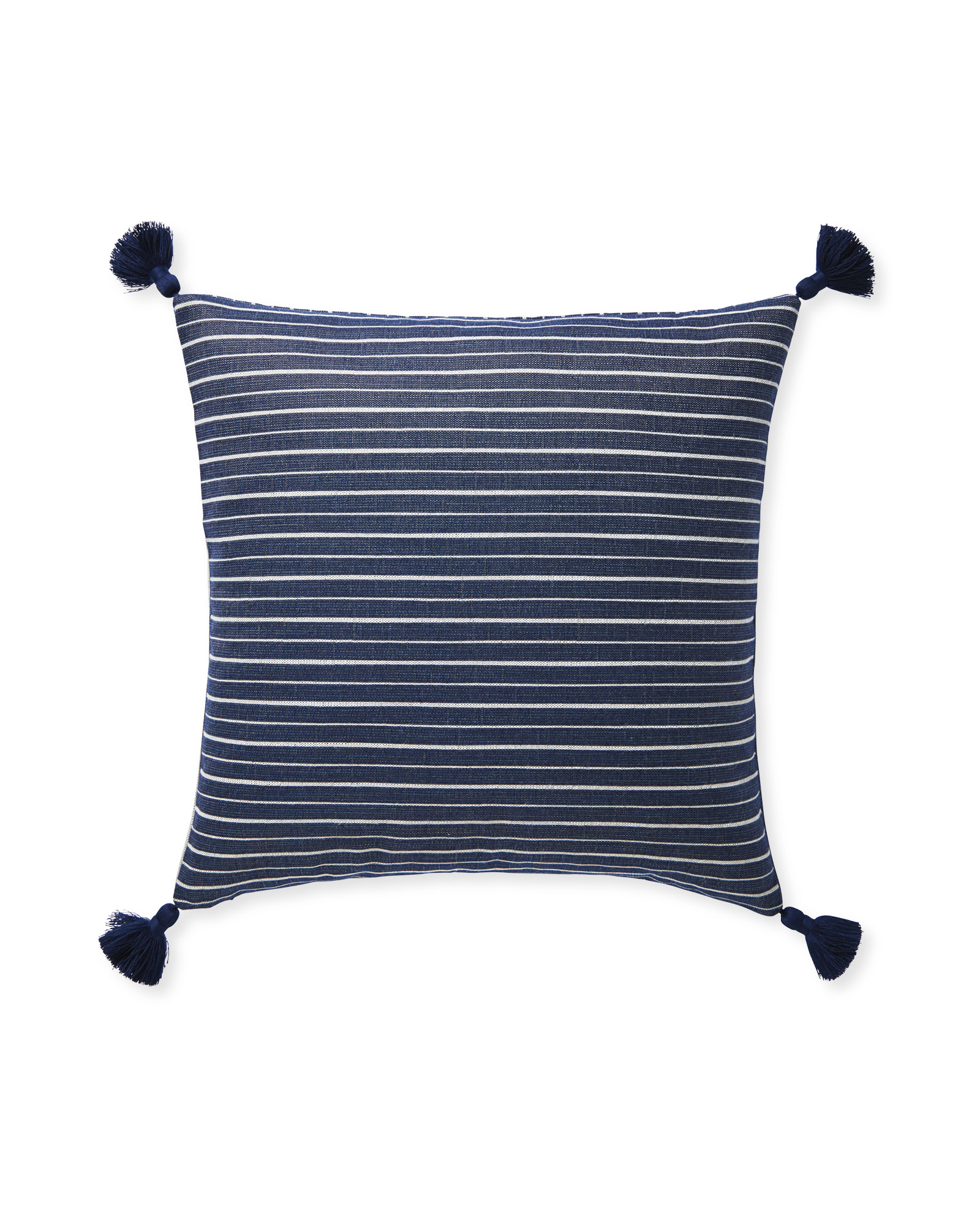 Sunbrella® Sail Stripe Pillow Cover, Navy