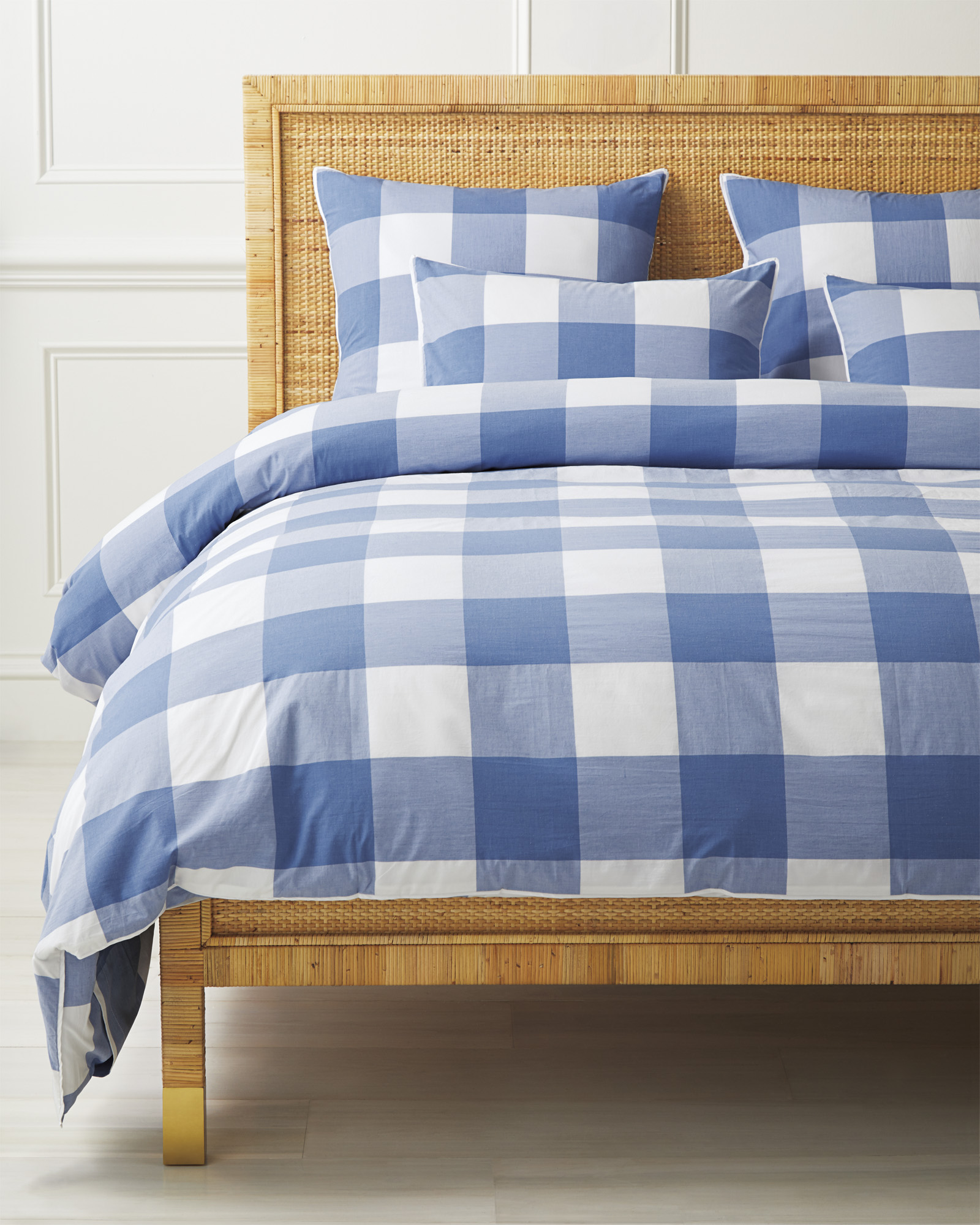 Gingham Duvet Cover, French Blue