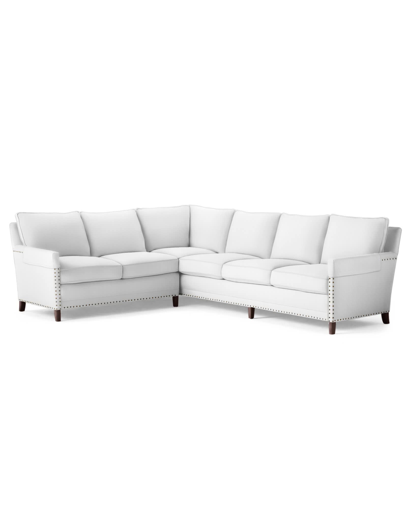 Spruce Street Left-Facing L-Sectional with Nailheads ,