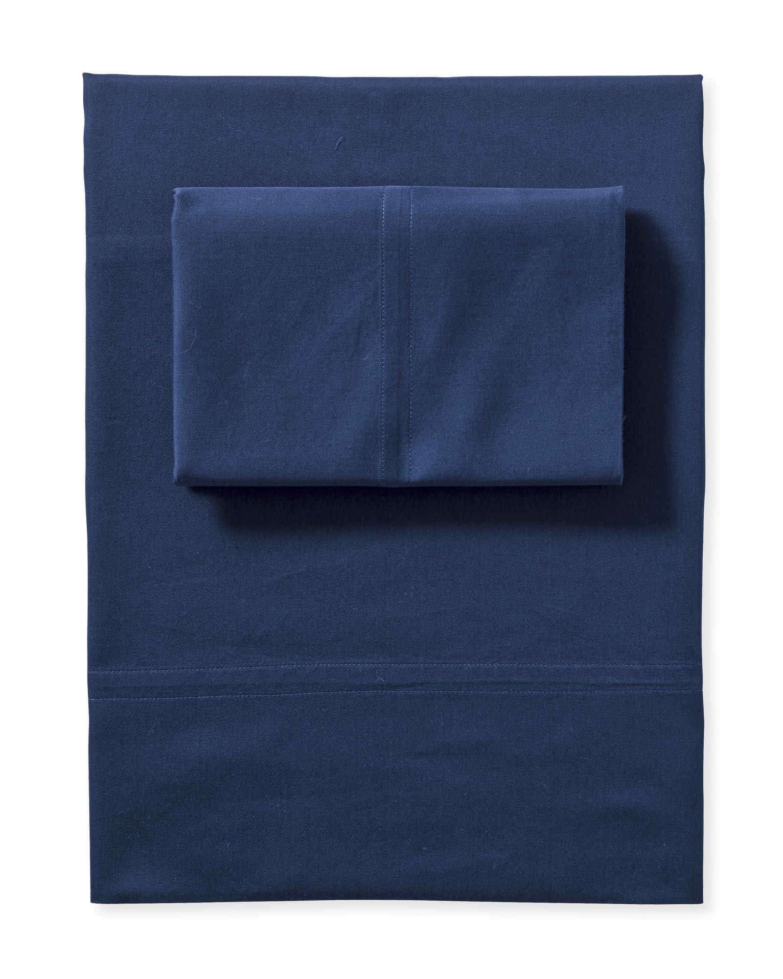 Portofino Washed Percale Sheet Set, Navy