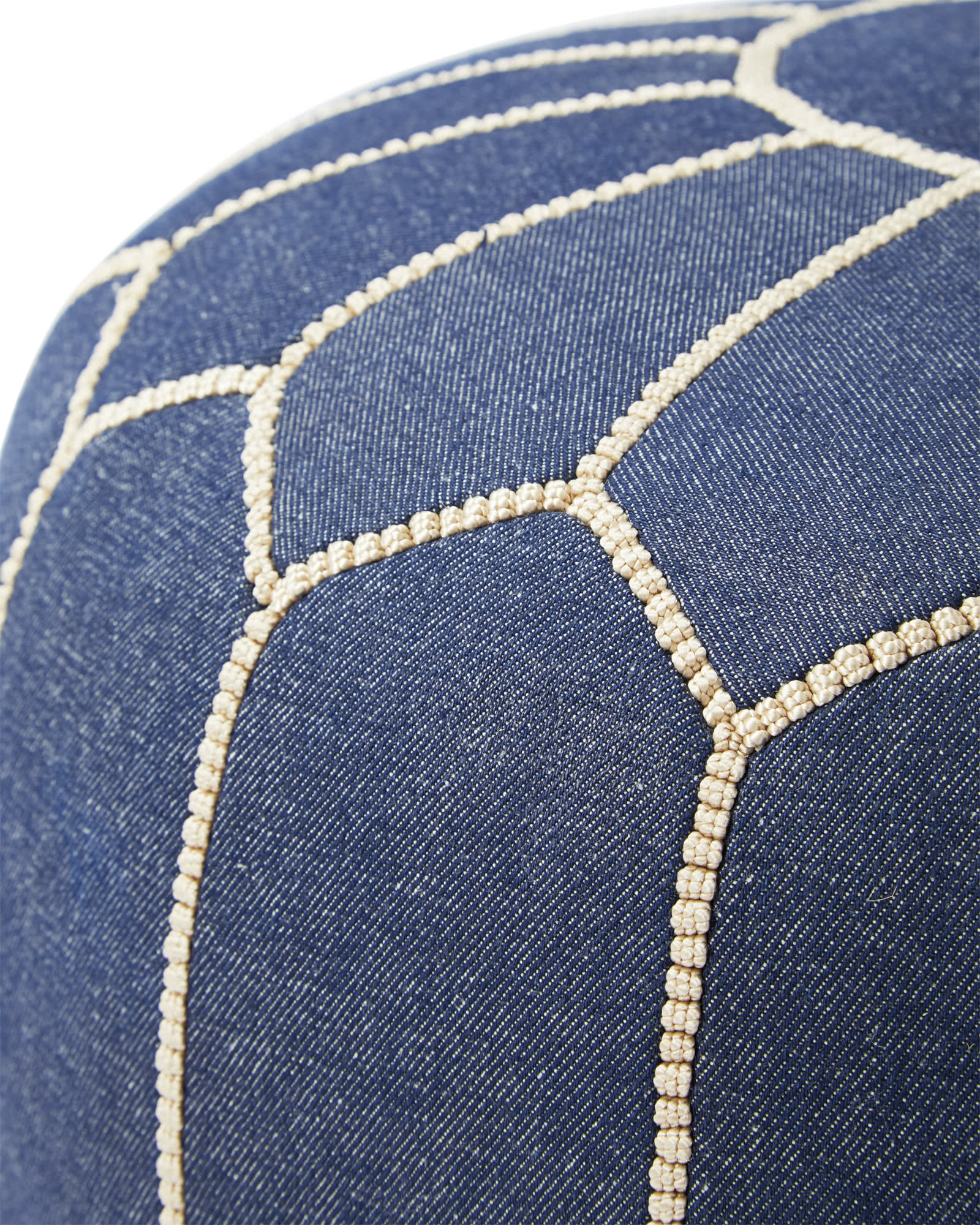 Moroccan Denim Pouf,