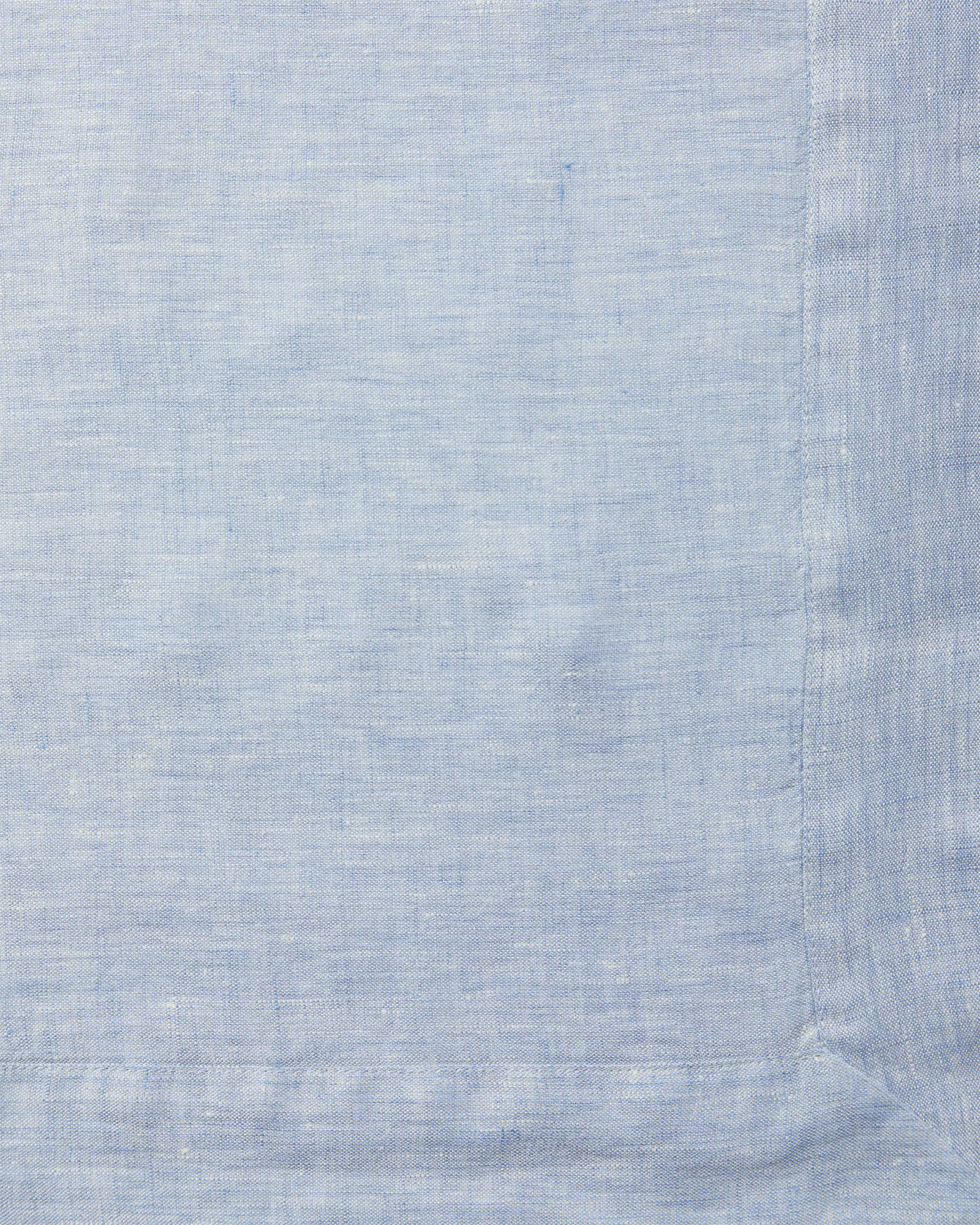 Cavallo Linen Bedding Swatch, Blue Chambray