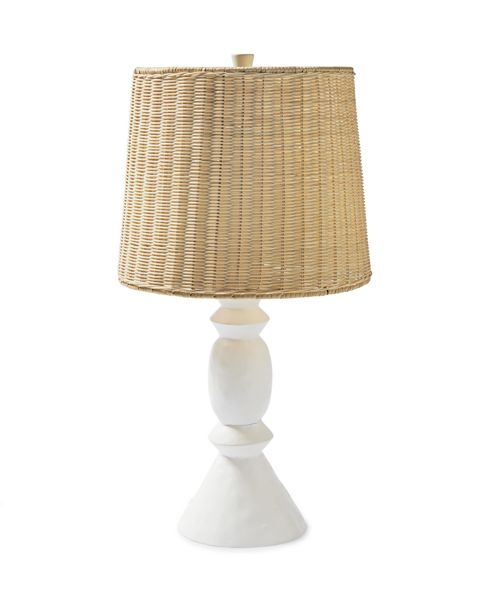 Small Brighton Table Lamp, Wicker