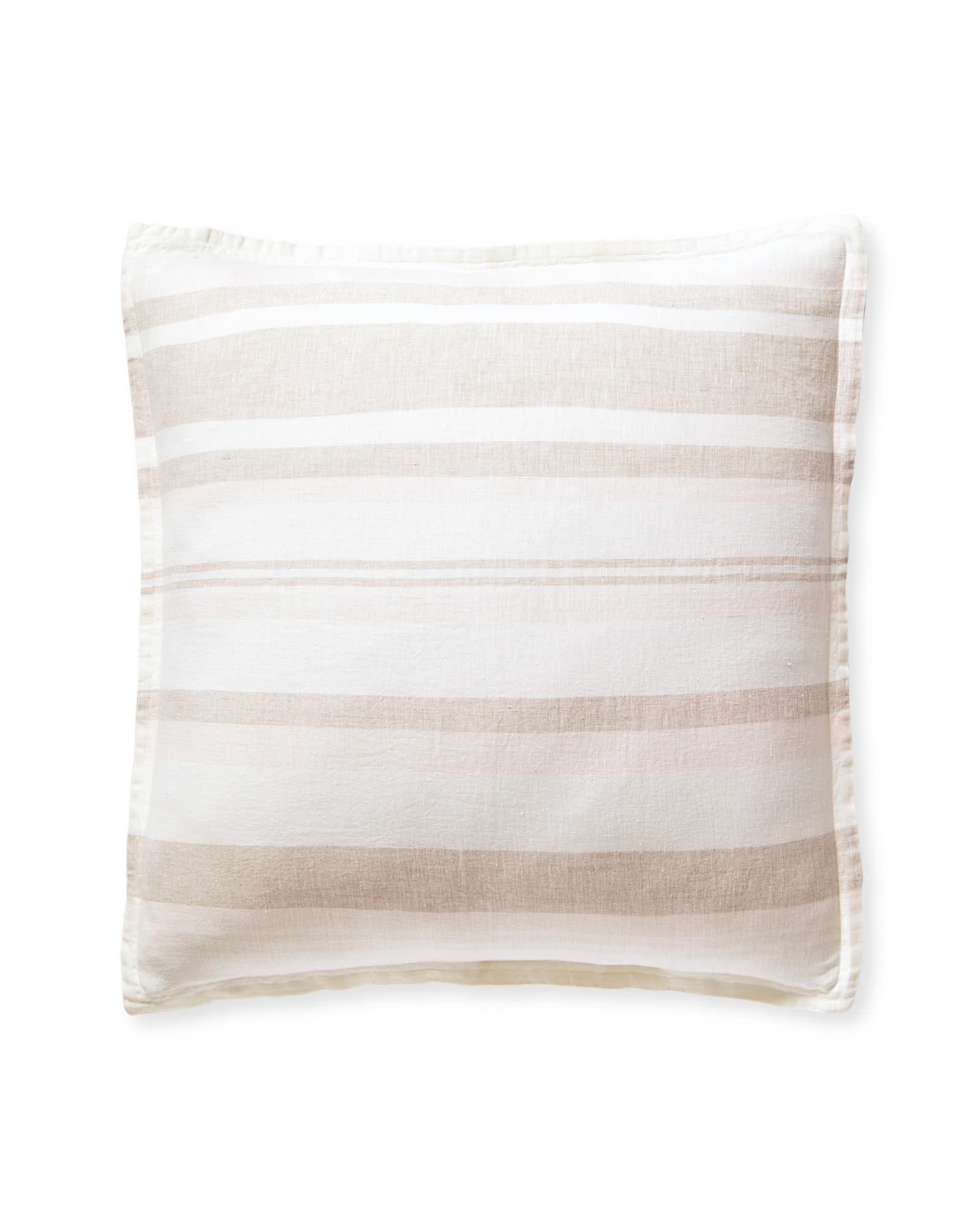 Seabright Linen Shams, Flax/Pink Sand