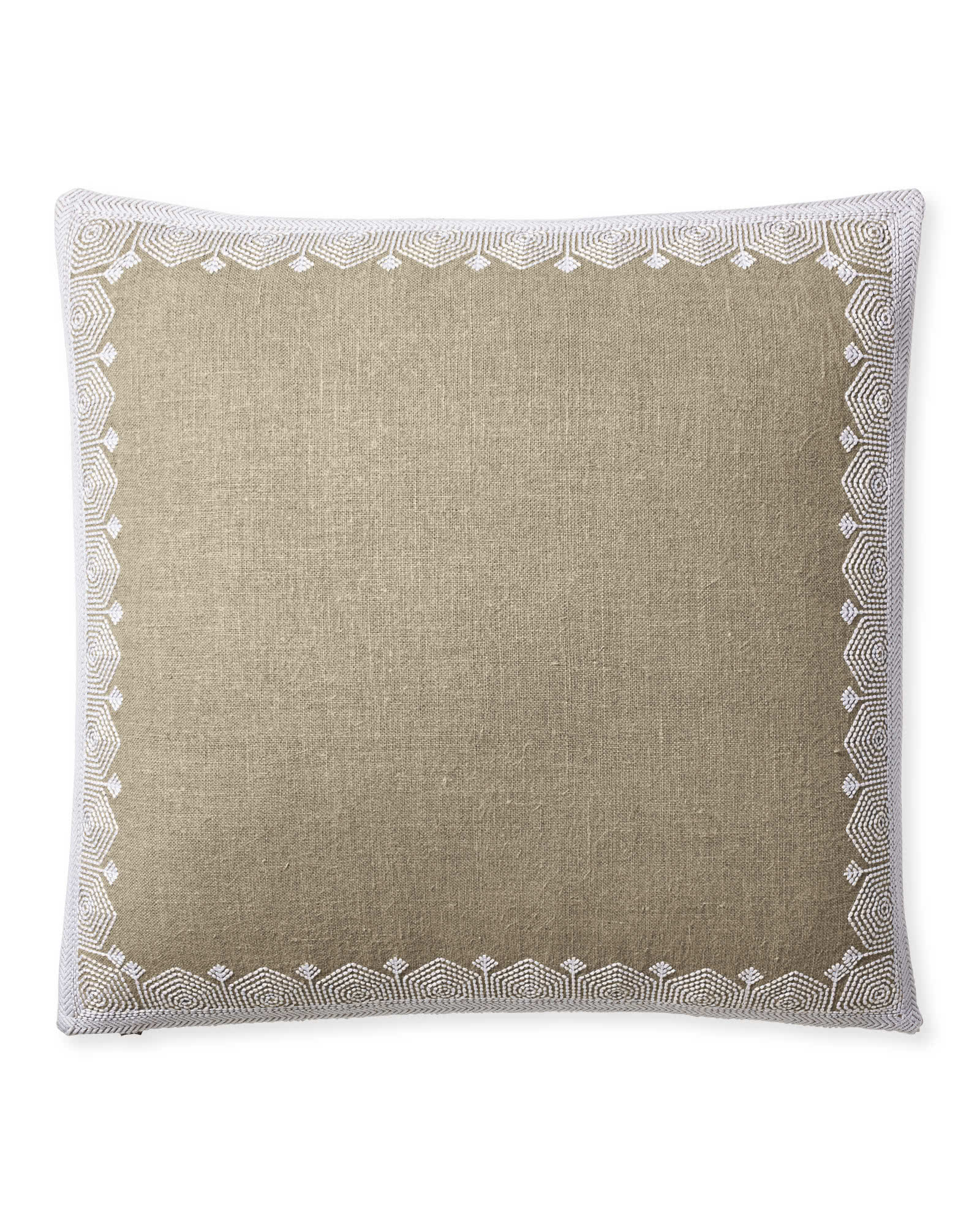 Olympia Pillow Cover, Flax
