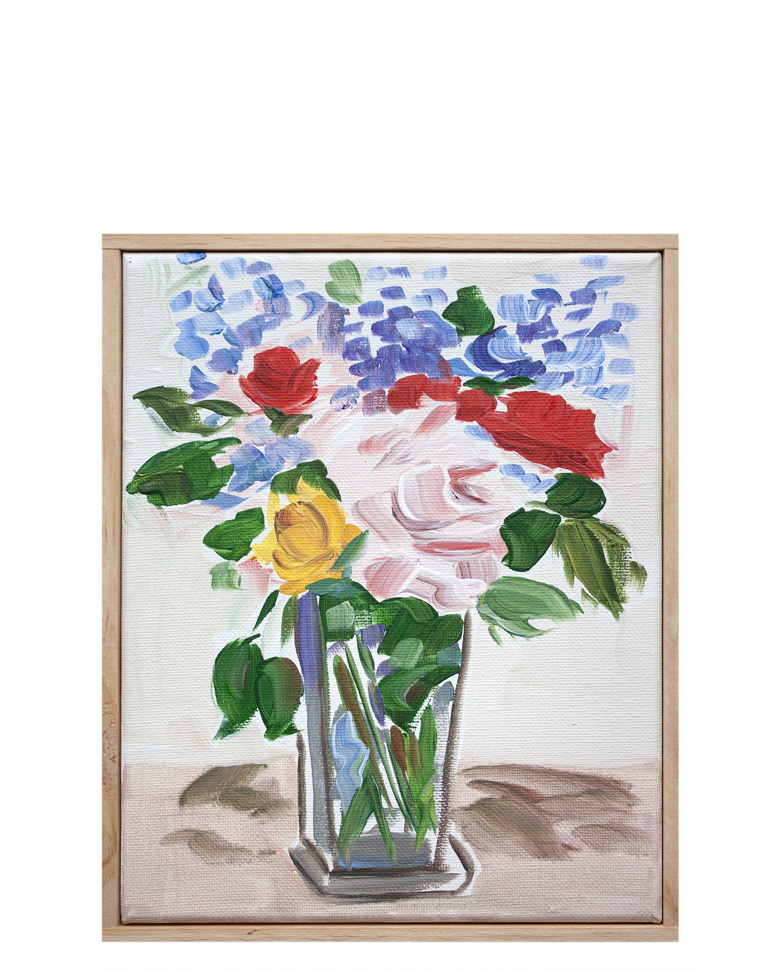 """""""Arrangement with Roses and Cardinal Red"""" by Isabel Vexin,"""