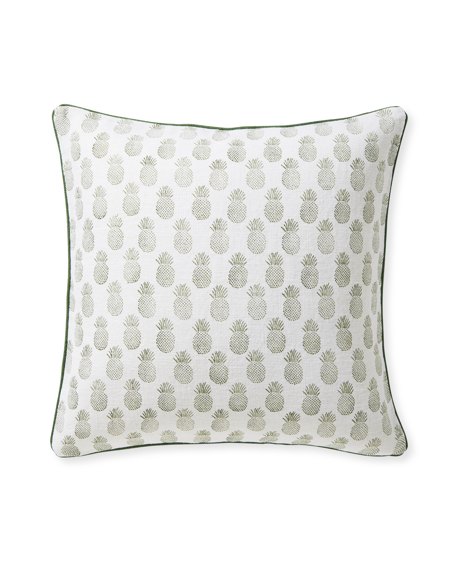 Isla Printed Pillow Cover, Moss